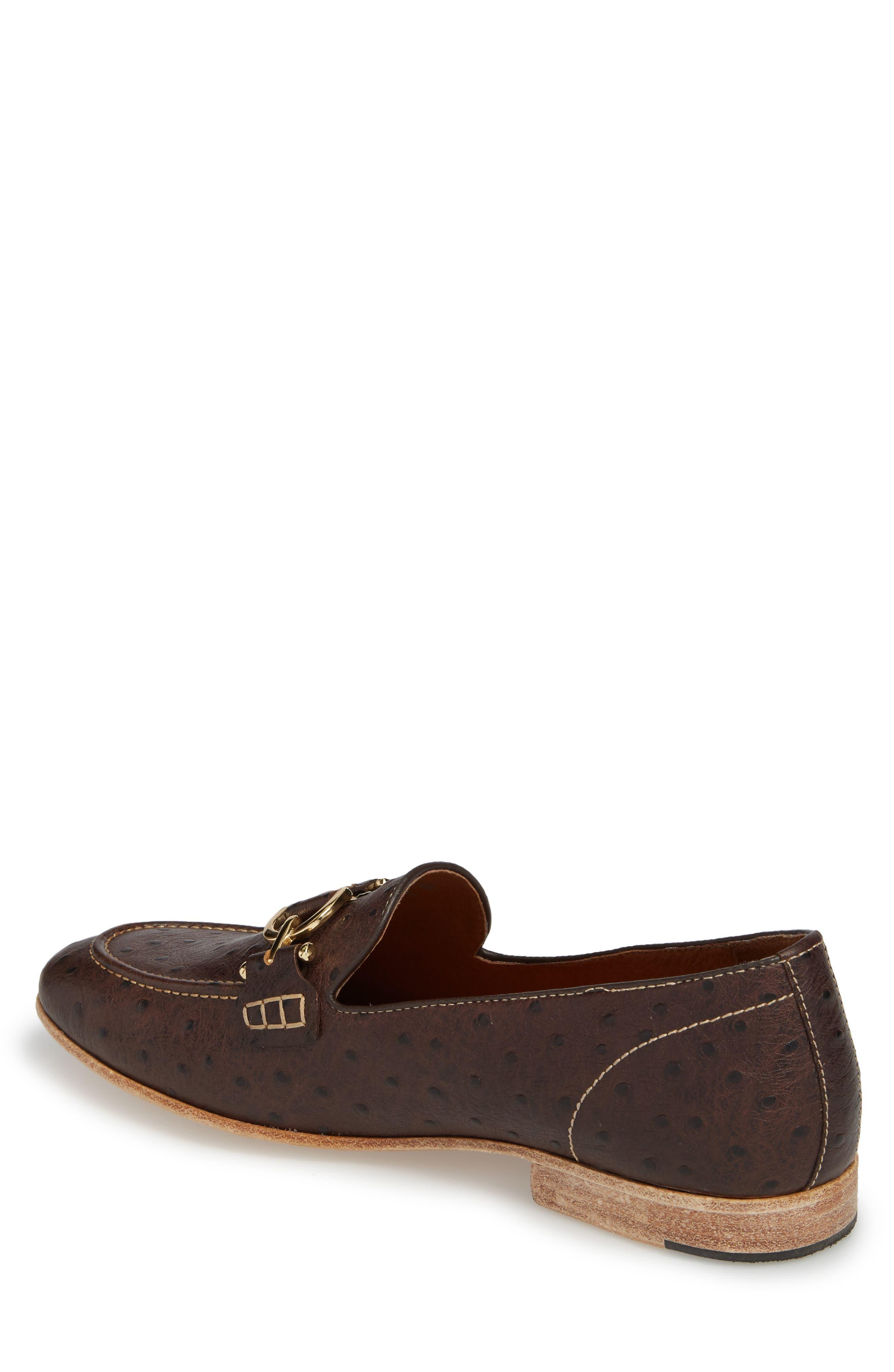 Moritz Apron Toe Bit Loafer,                             Alternate thumbnail 2, color,                             Brown Leather