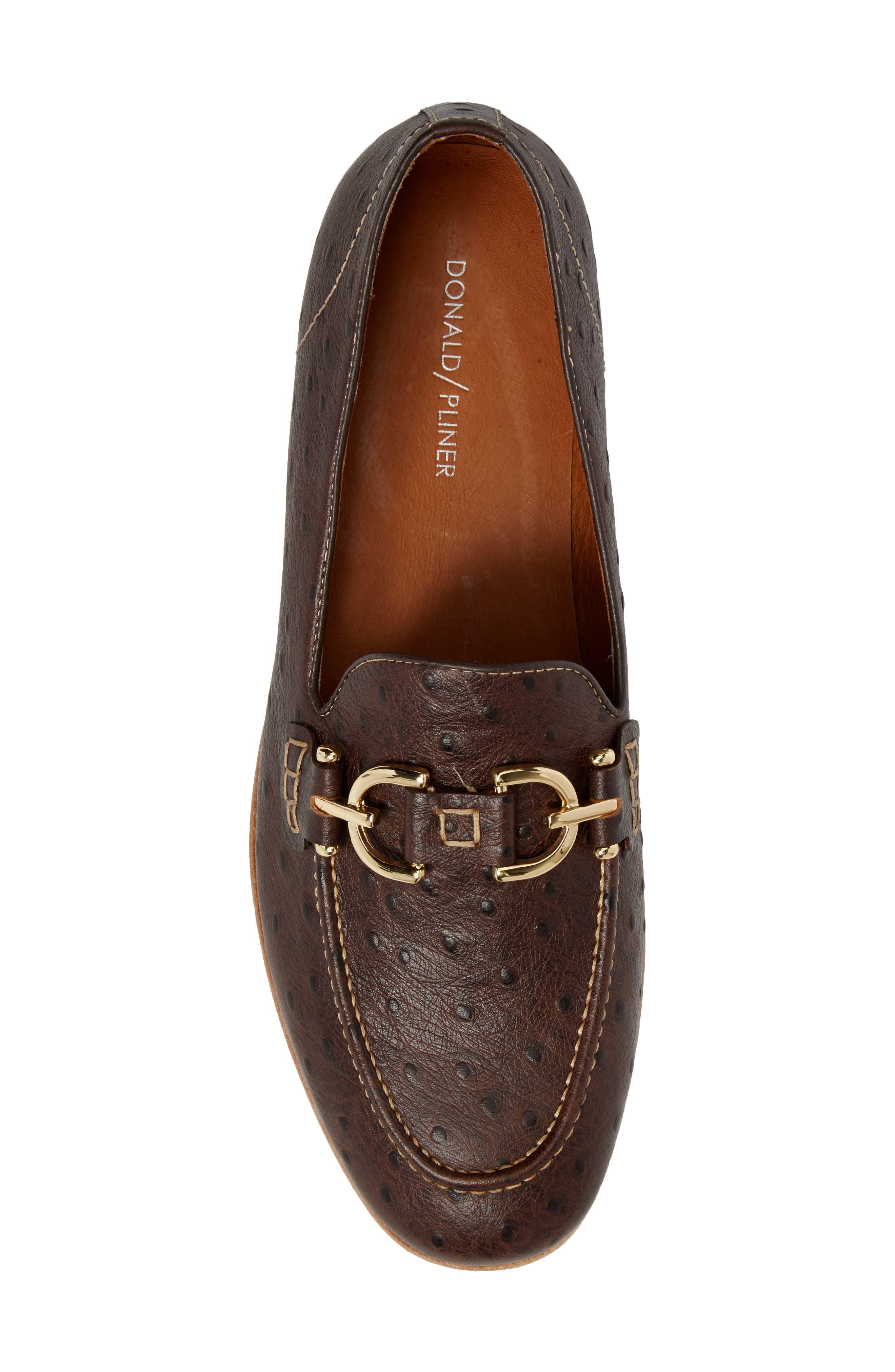 Moritz Apron Toe Bit Loafer,                             Alternate thumbnail 5, color,                             Brown Leather