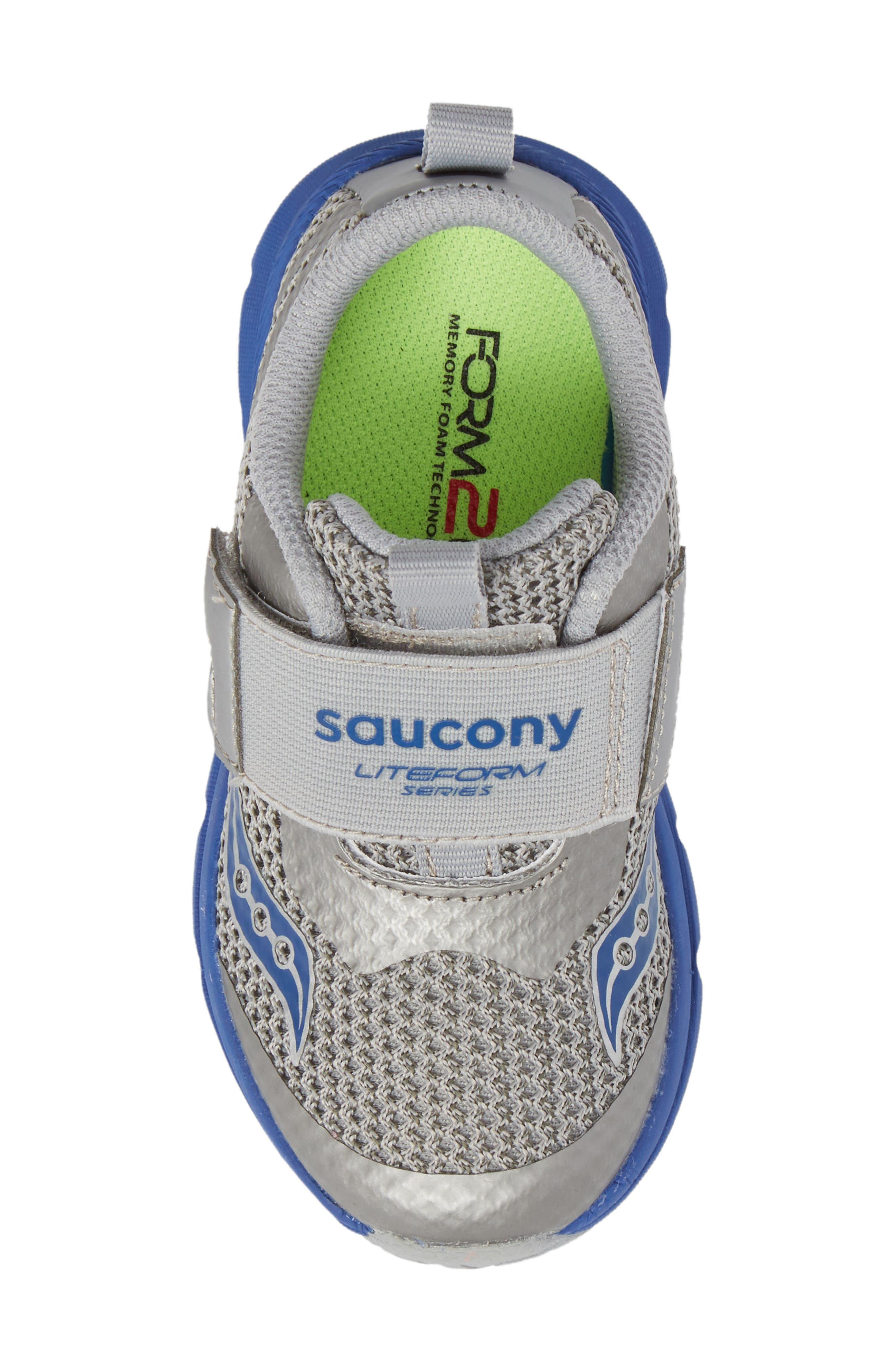 Baby Liteform Sneaker,                             Alternate thumbnail 5, color,                             Grey/ Blue