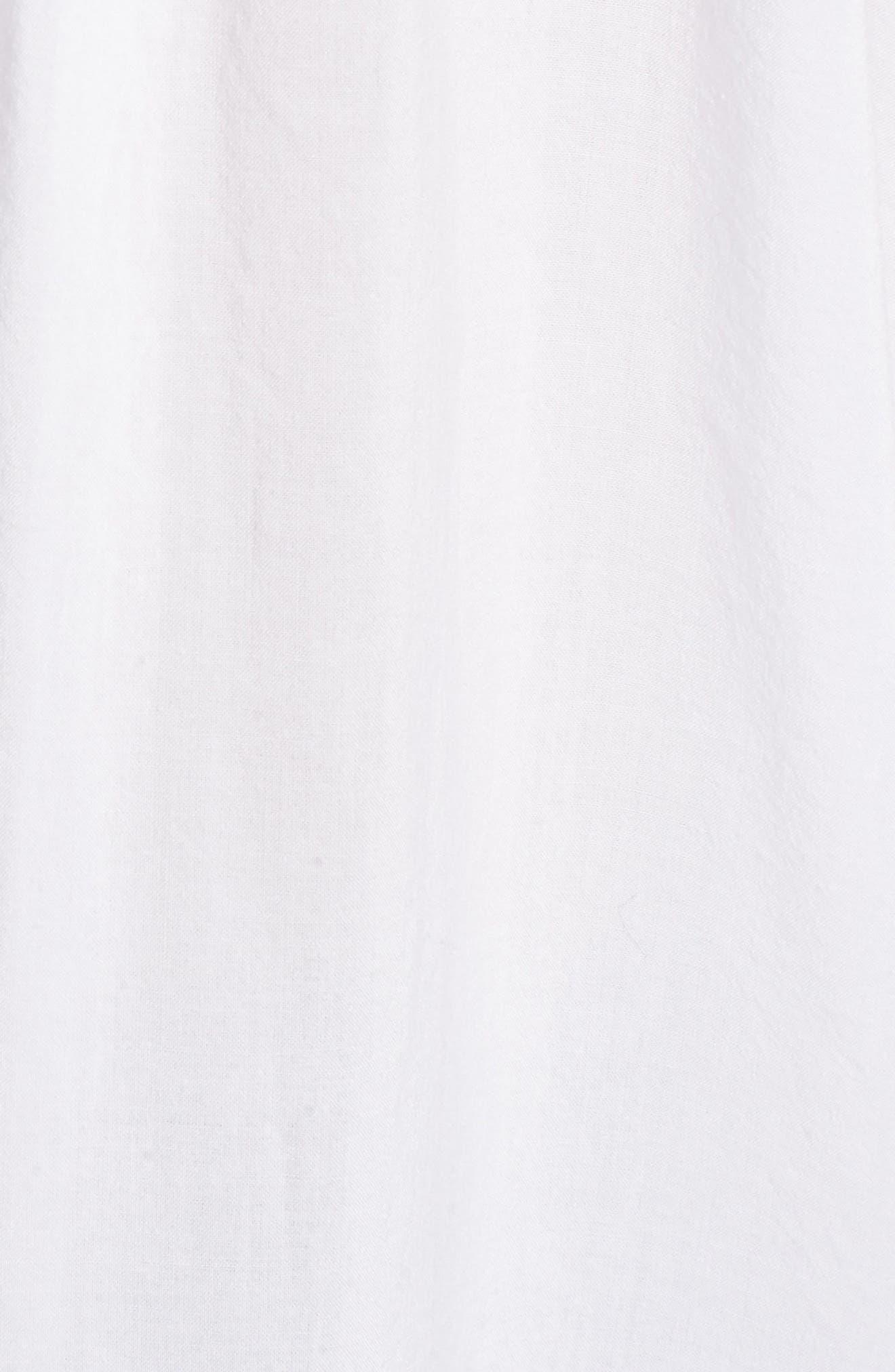 Cotton Blend Voile Blouse,                             Alternate thumbnail 7, color,                             Paper