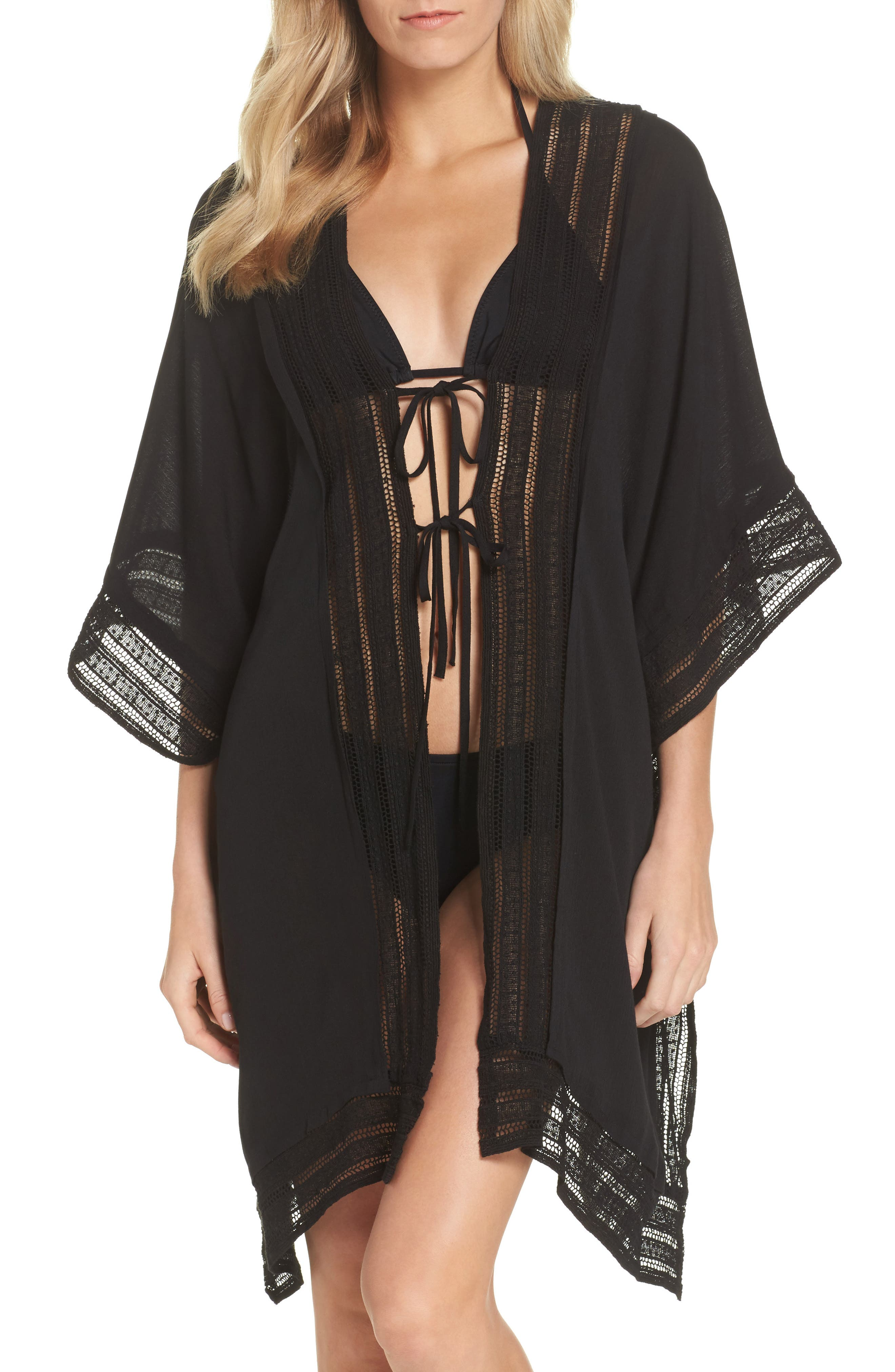 Serendipity Cover-Up Tunic,                         Main,                         color, Black
