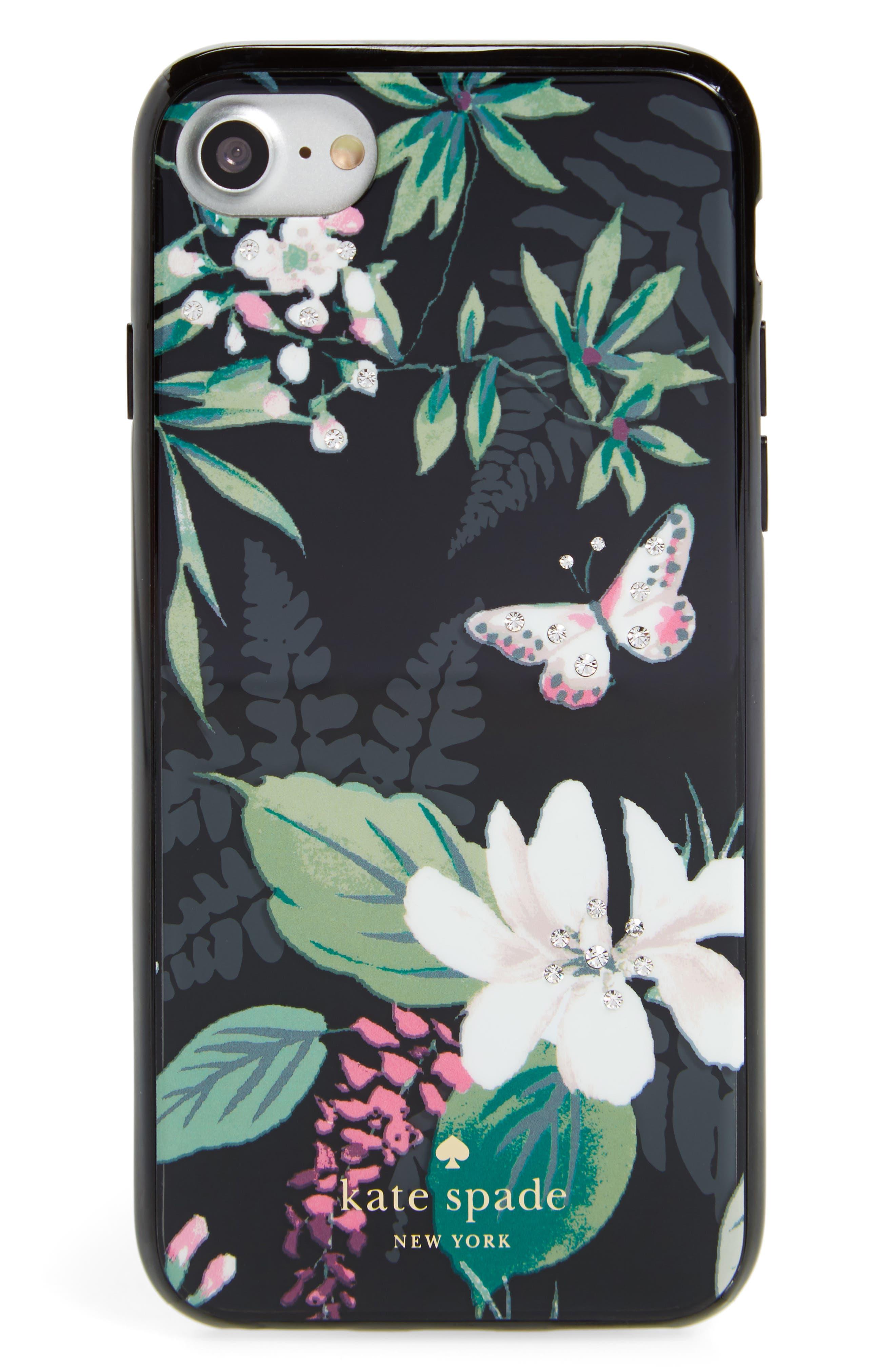 kate spade new york jeweled botanical iPhone 7/8 & 7/8 Plus case