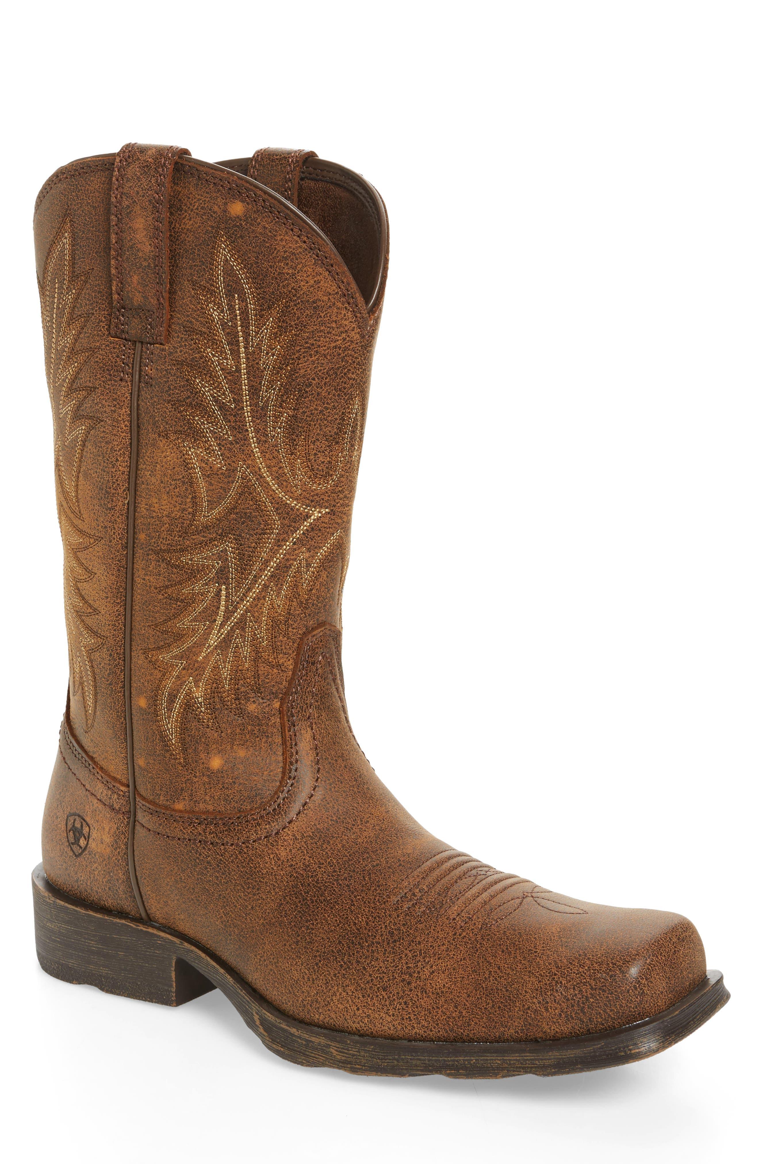 Western Rambler Cowboy Boot,                             Main thumbnail 1, color,                             Vintage Bomber Leather
