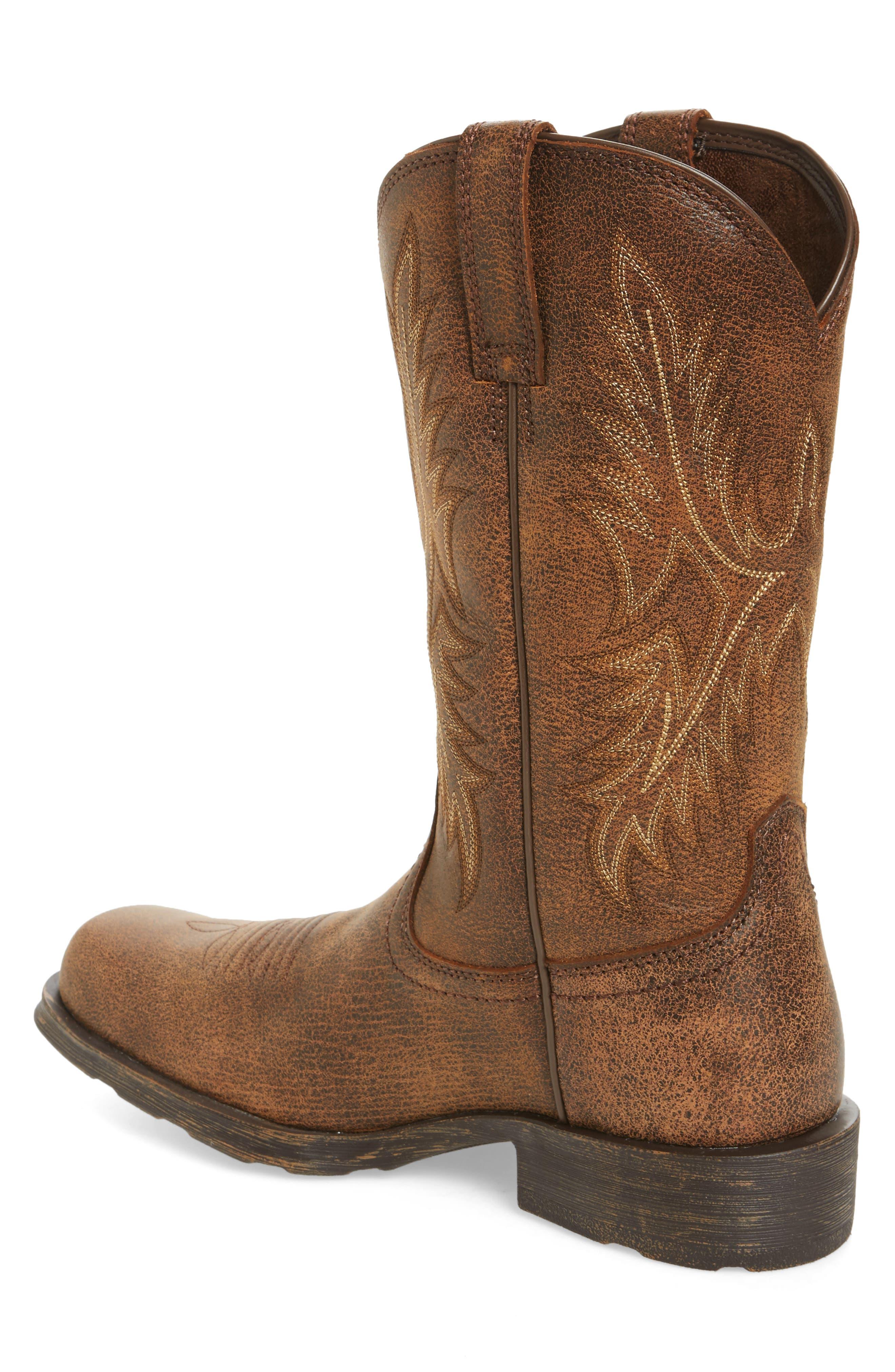 Western Rambler Cowboy Boot,                             Alternate thumbnail 2, color,                             Vintage Bomber Leather
