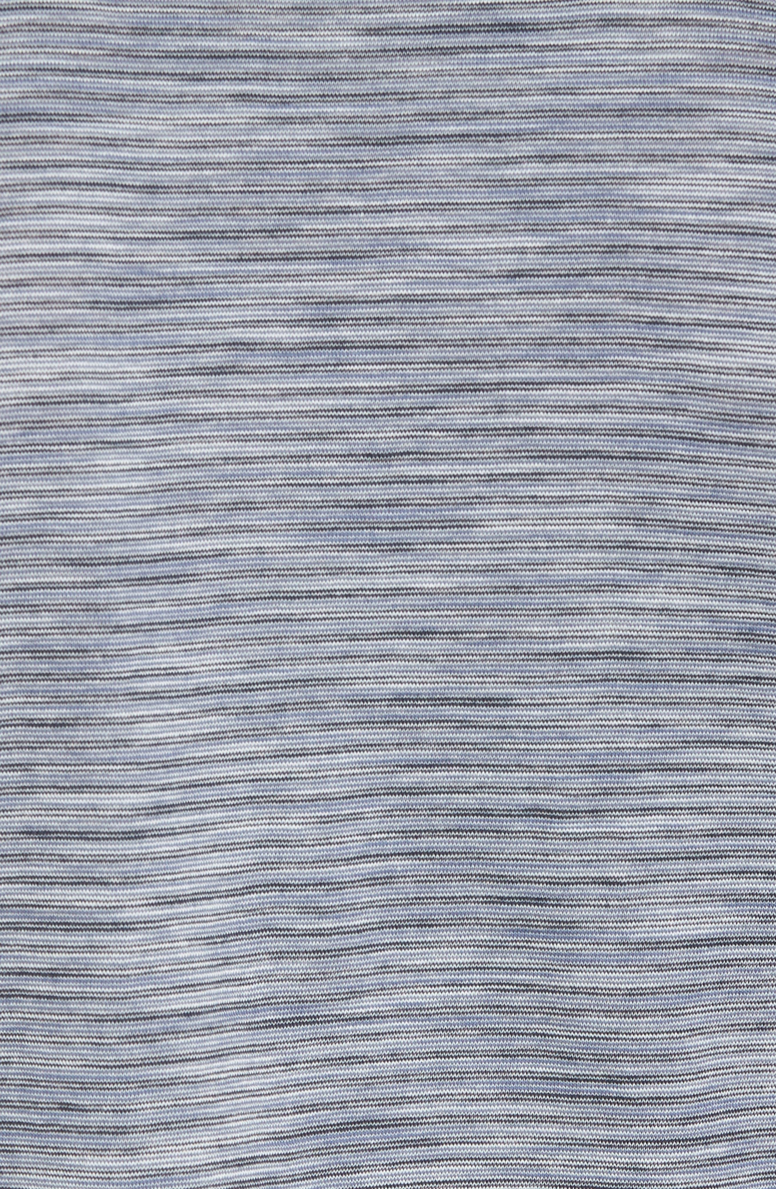 Stripe Slub Polo,                             Alternate thumbnail 5, color,                             Dark Sapphire