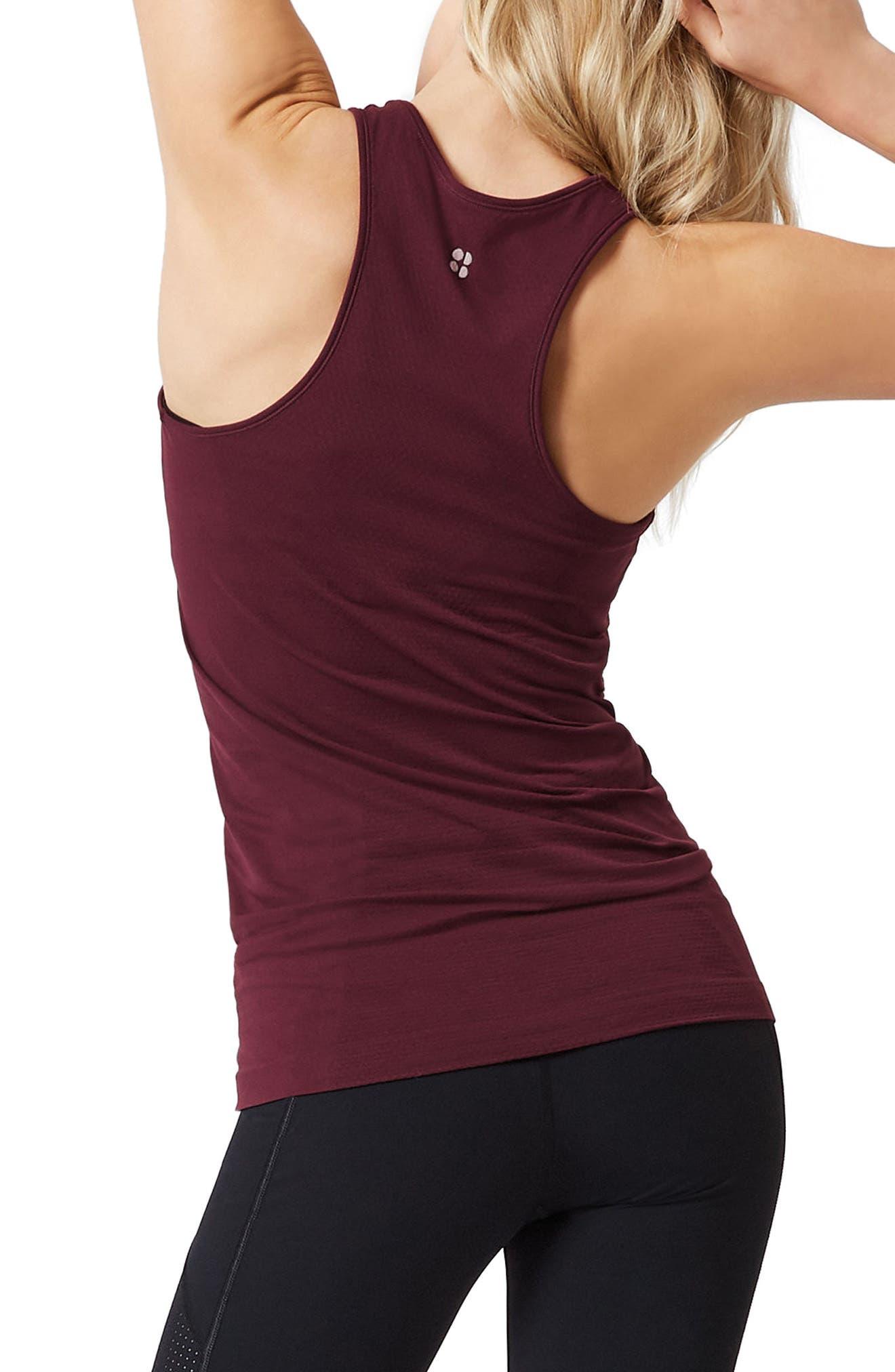 Athlete Seamless Workout Tank,                             Alternate thumbnail 2, color,                             Oxblood