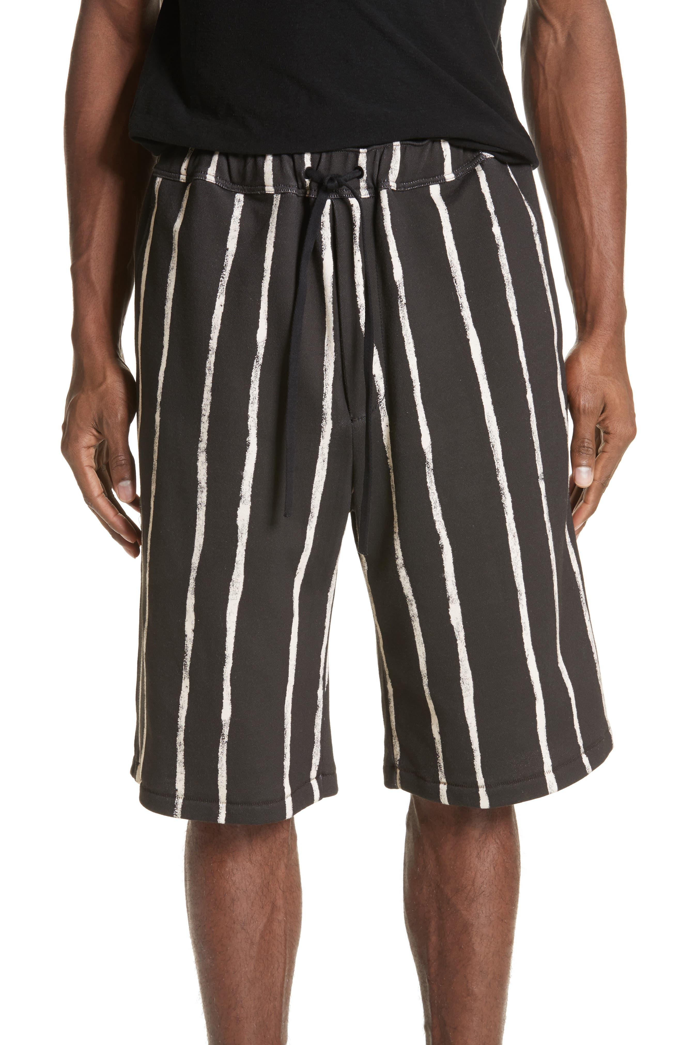 Striped Paint Shorts,                         Main,                         color, Black/ White