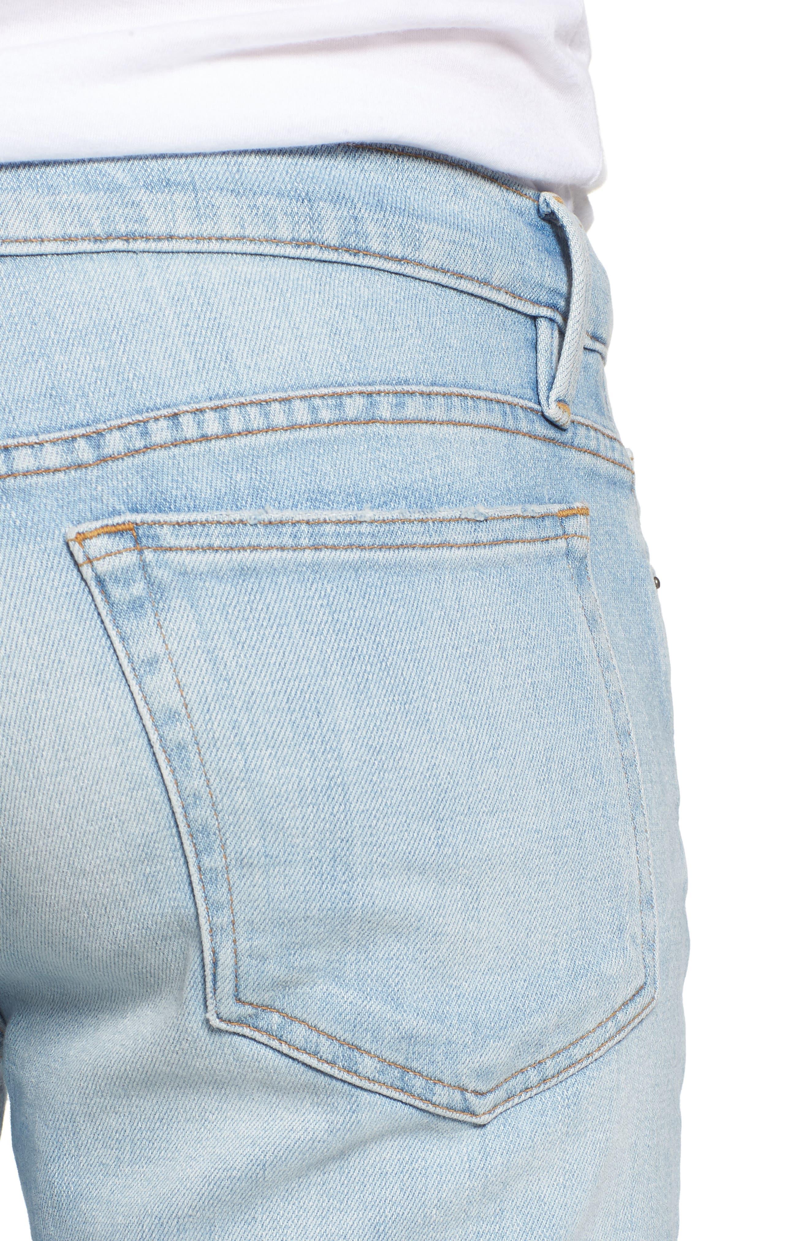 L'Homme Straight Leg Jeans,                             Alternate thumbnail 4, color,                             Finn