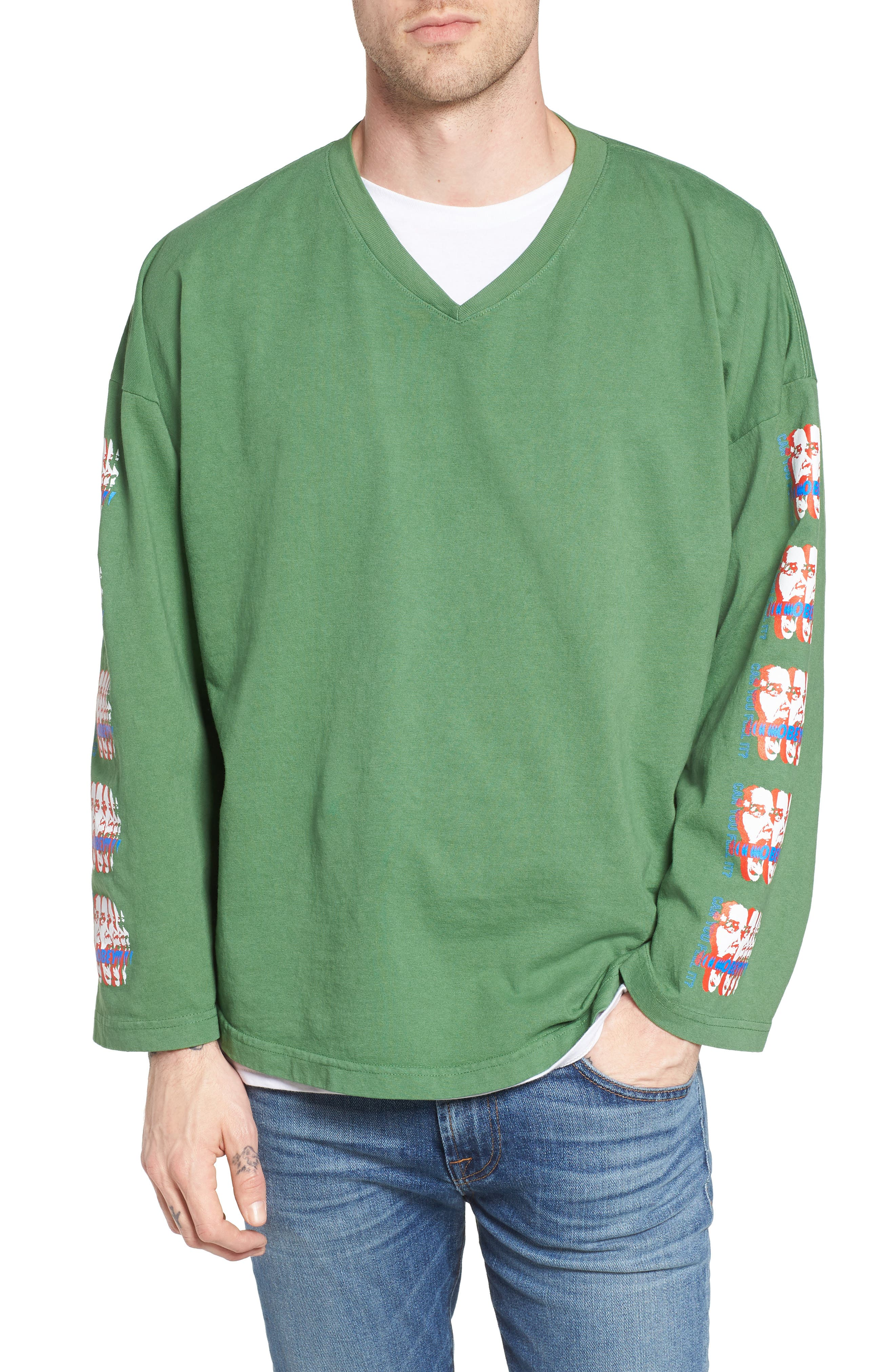 Can You Feel It Hockey Jersey,                             Main thumbnail 1, color,                             Vintage Green
