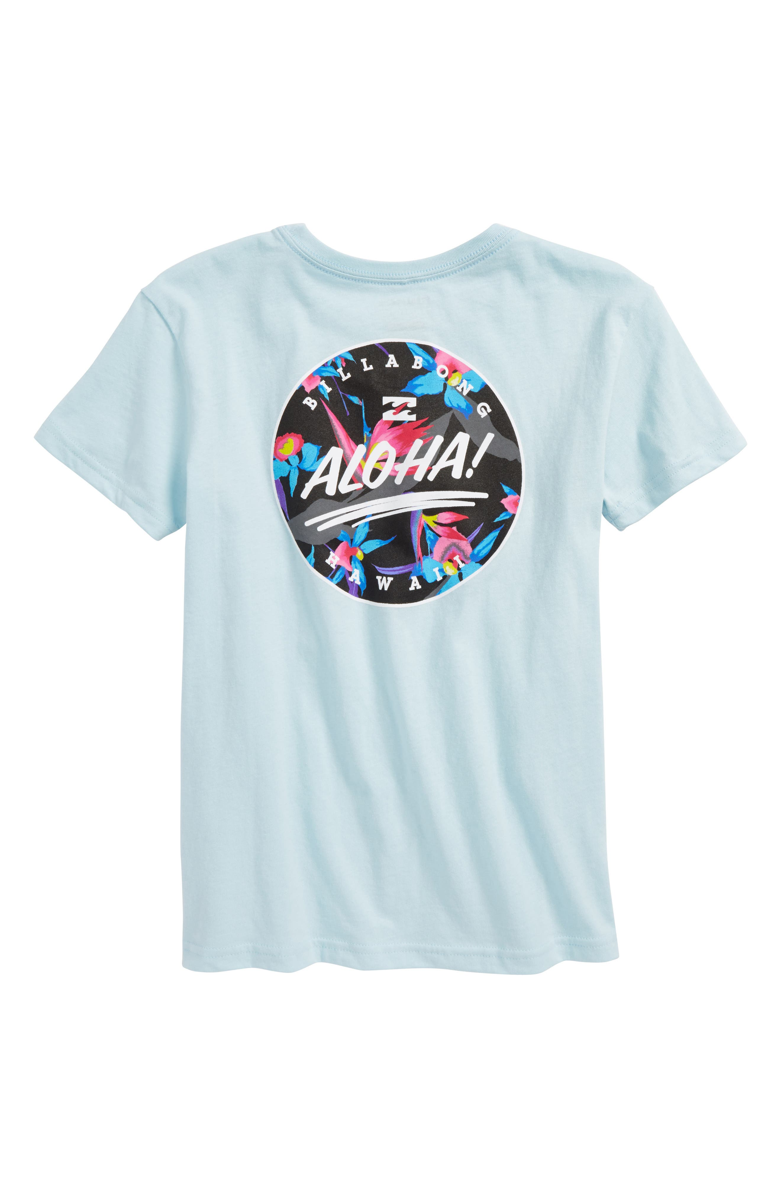 Hi Aloha T-Shirt,                             Alternate thumbnail 2, color,                             Coastal Blue