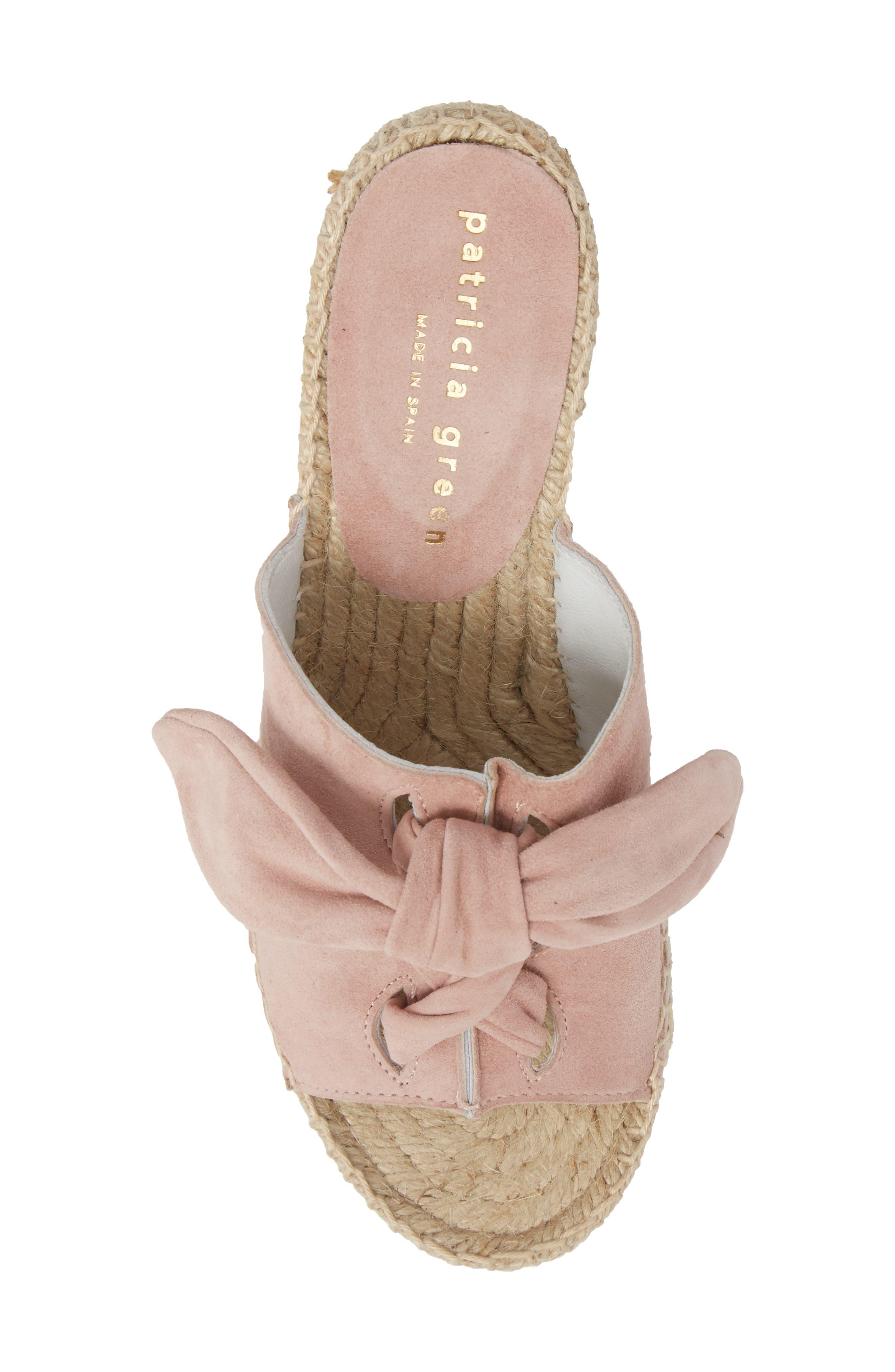 Flirt Espadrille Wedge Sandal,                             Alternate thumbnail 5, color,                             Pink Suede