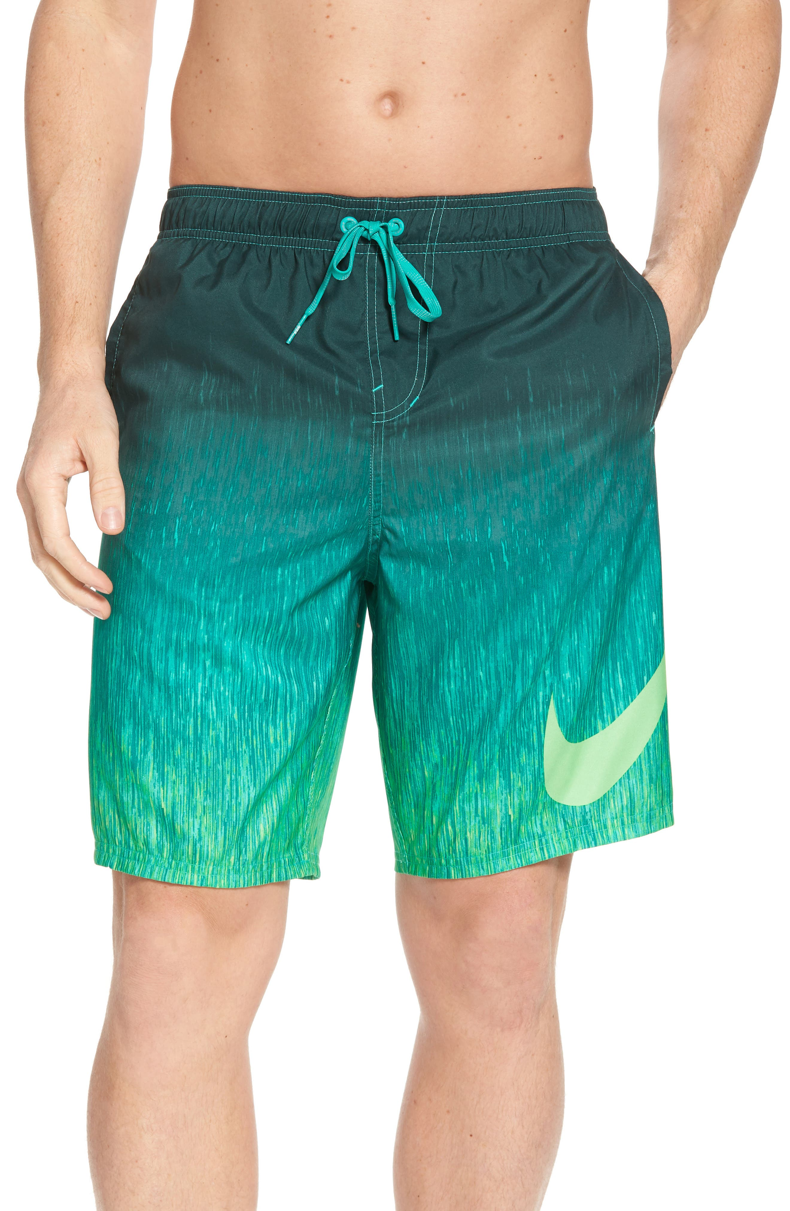 Breaker Swim Trunks,                         Main,                         color, Clear Emerald