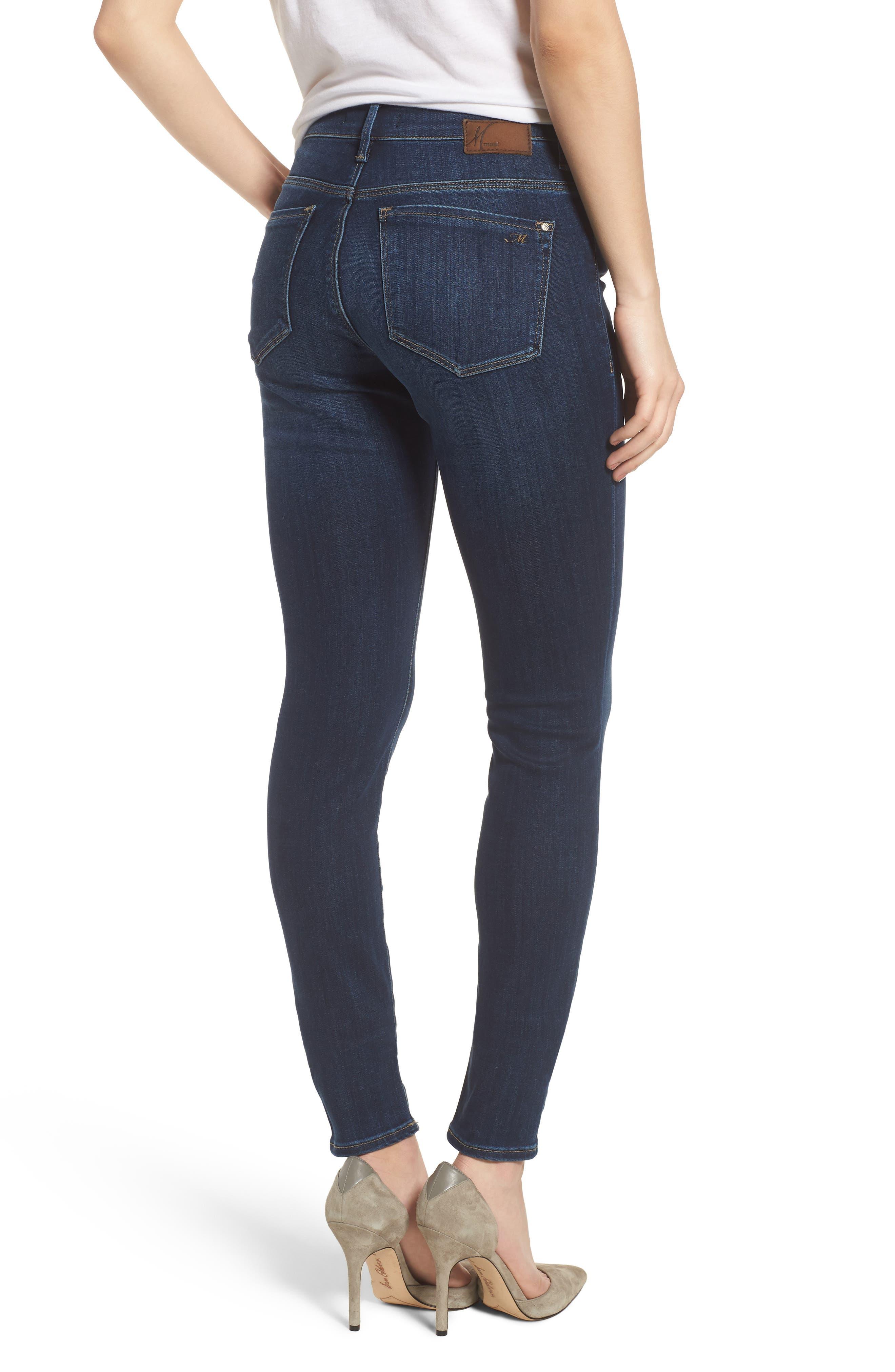 Alternate Image 2  - Mavi Jeans Alissa Skinny Jeans (Dark Supersoft)