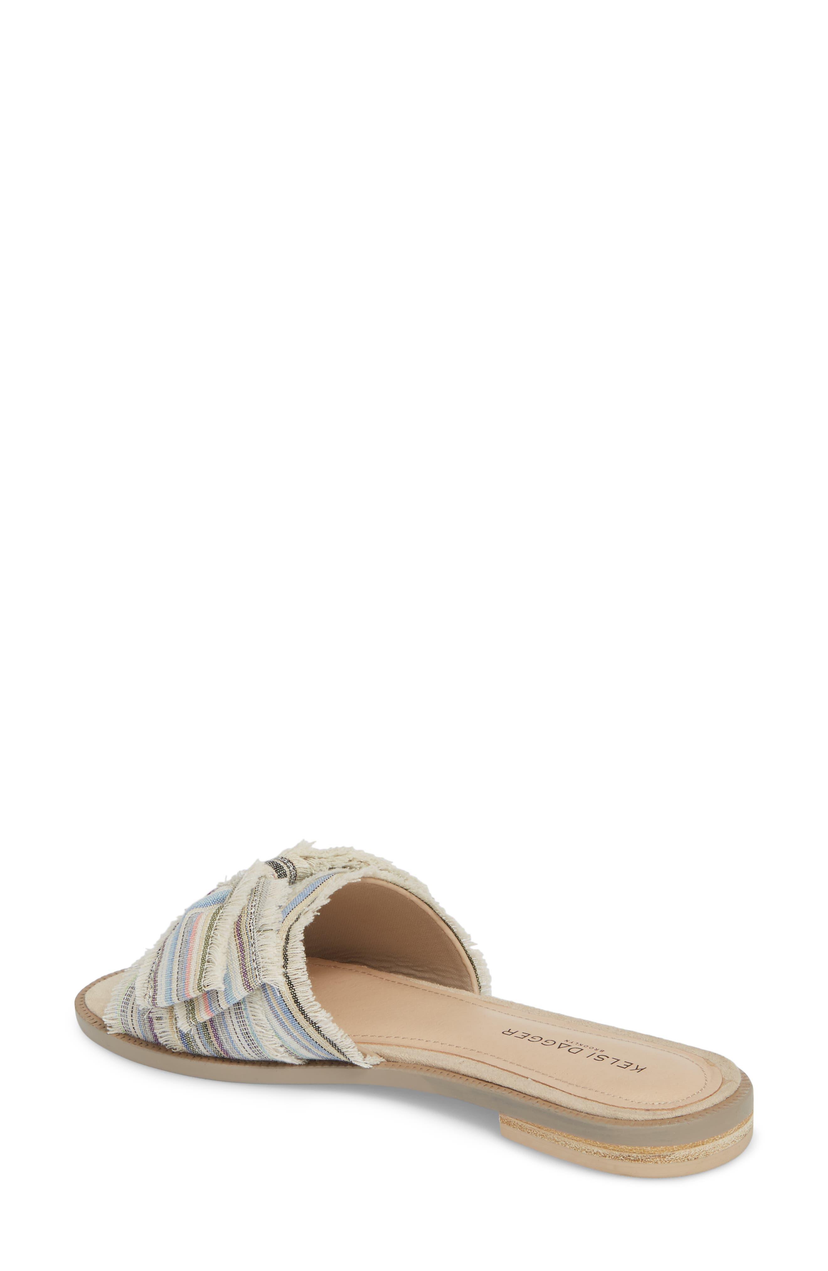 Revere Bow Slide Sandal,                             Alternate thumbnail 2, color,                             Bone/ Multi