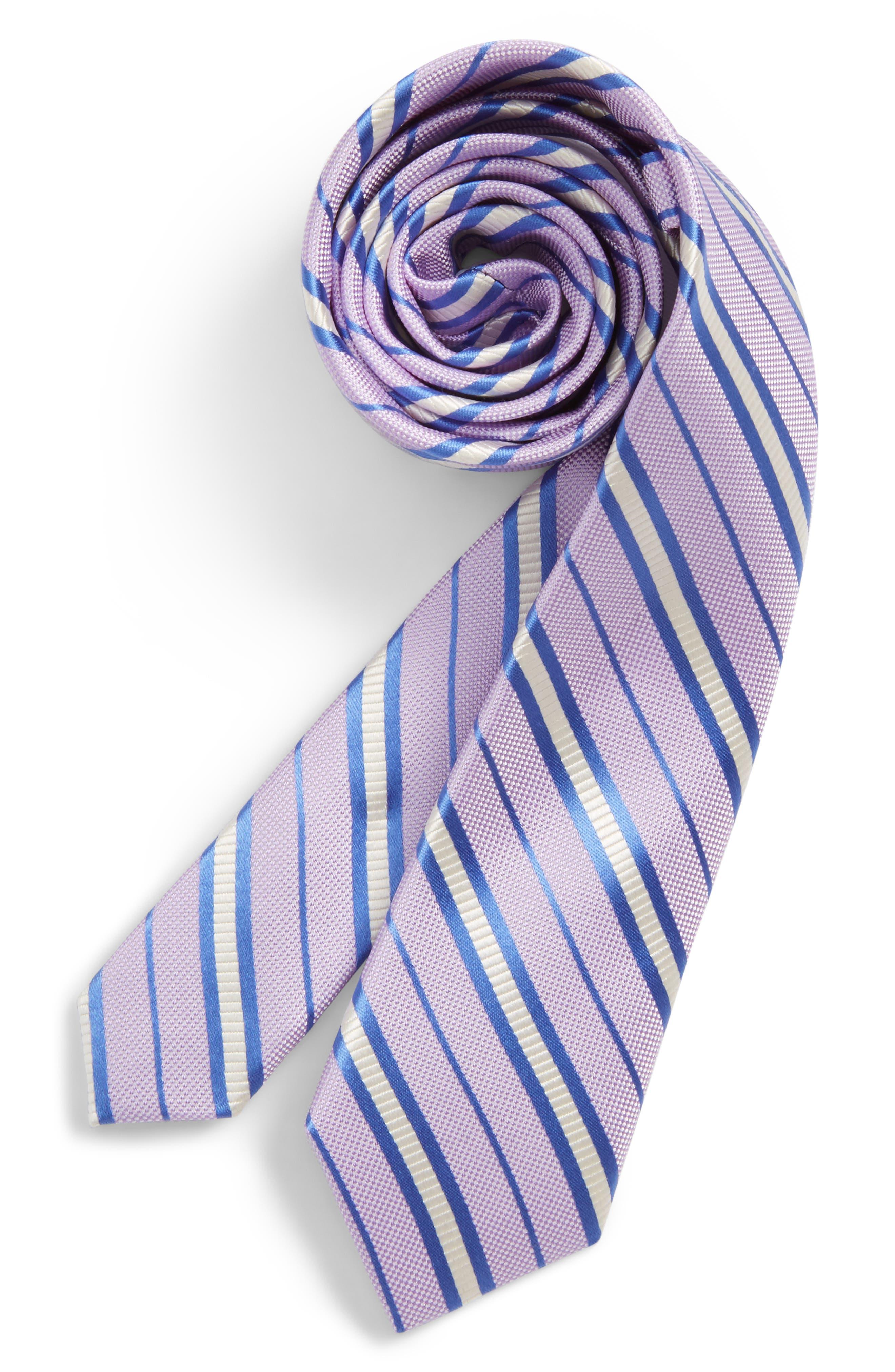 Nordstrom Candy Stripe Silk Tie (Big Boys)