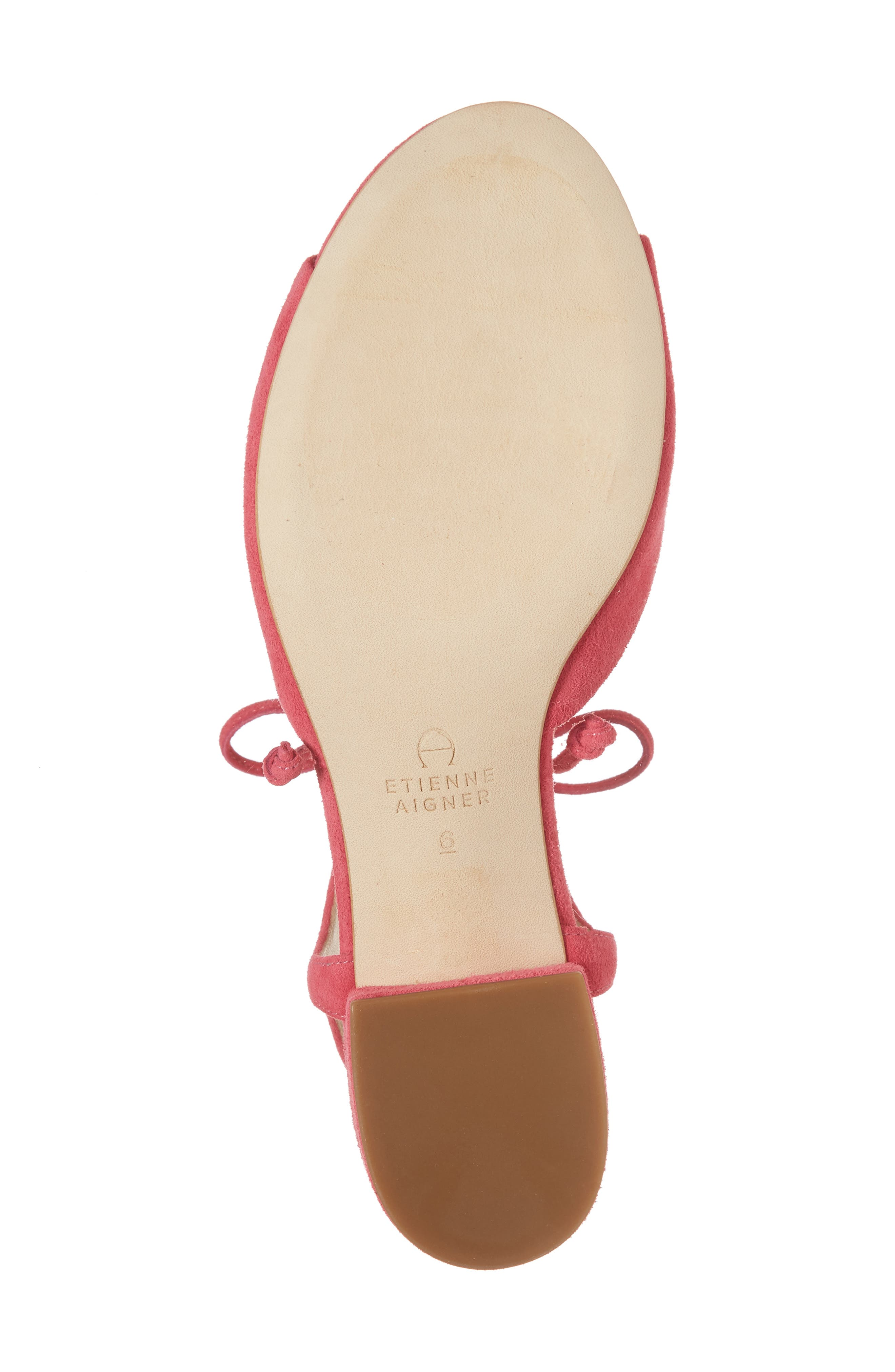 Belize Strappy Sandal,                             Alternate thumbnail 6, color,                             Peony Suede
