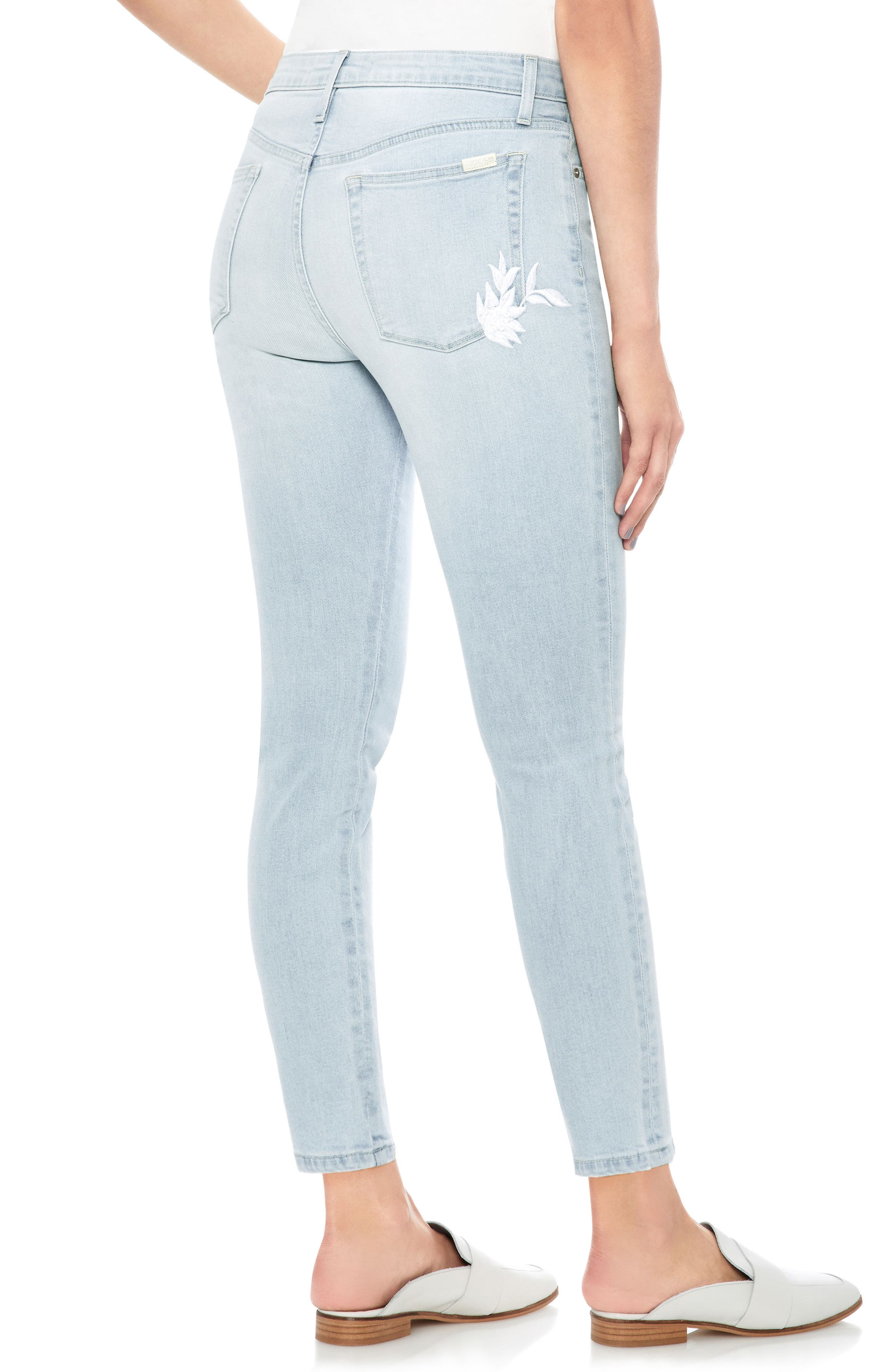 The Icon Embroidered Ankle Skinny Jeans,                             Alternate thumbnail 2, color,                             Alyce
