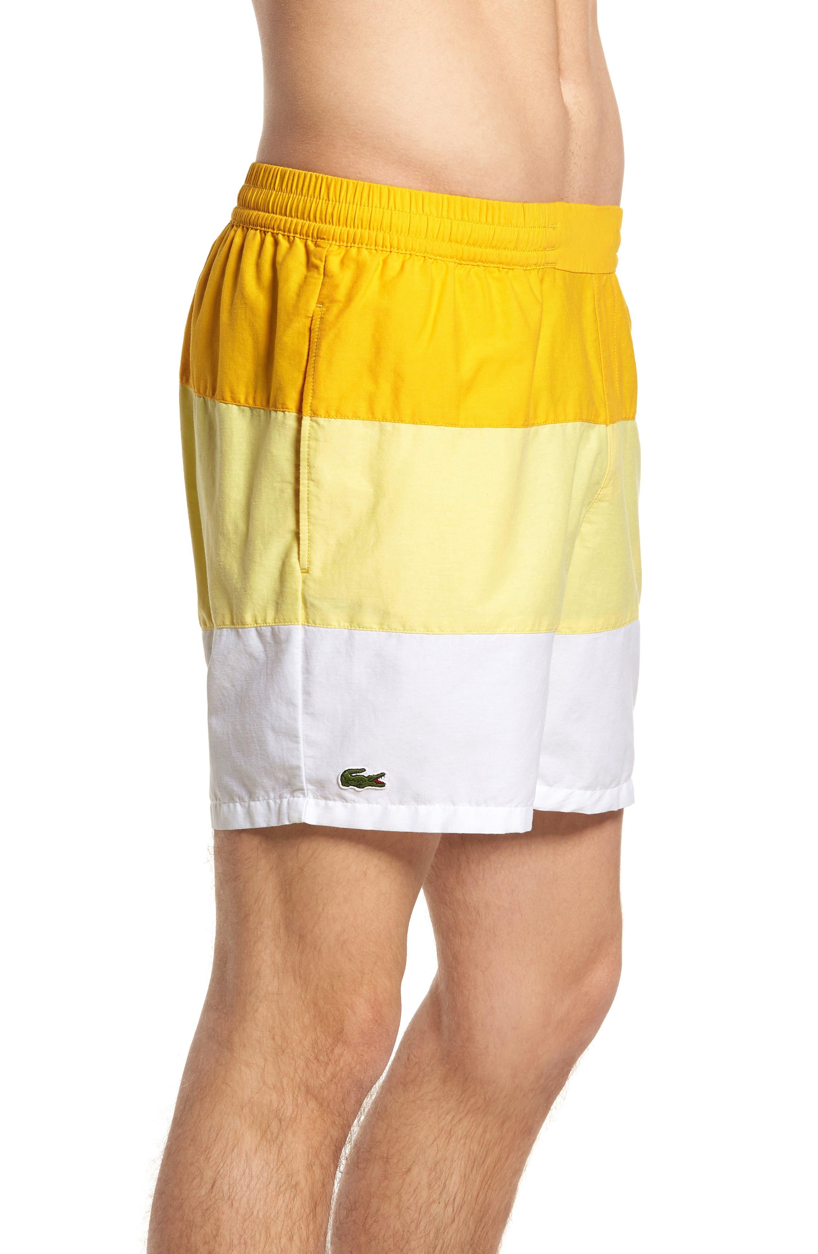 Alternate Image 3  - Lacoste Colorblock Swim Trunks