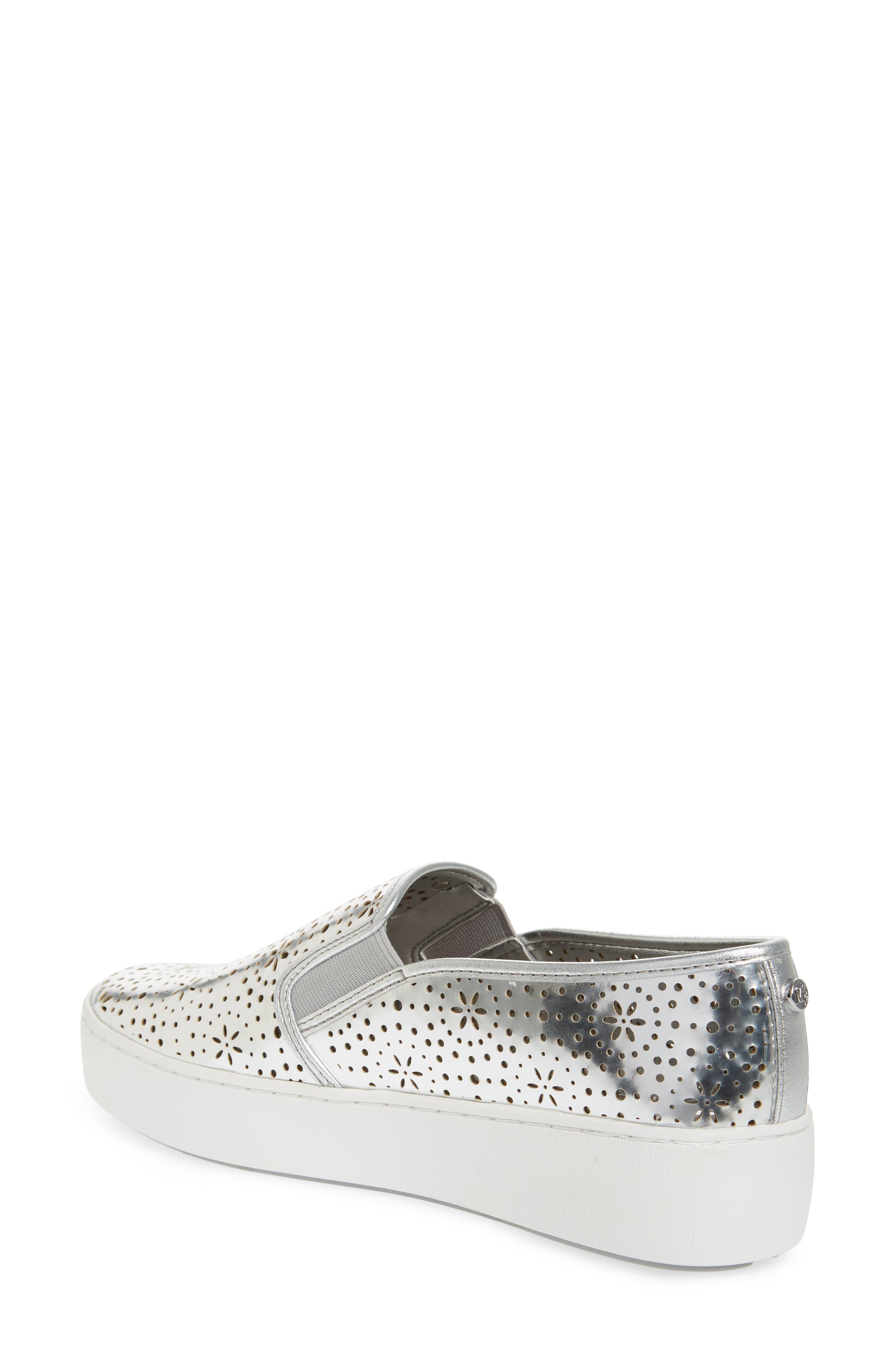 Trent Slip-On Sneaker,                             Alternate thumbnail 2, color,                             Silver