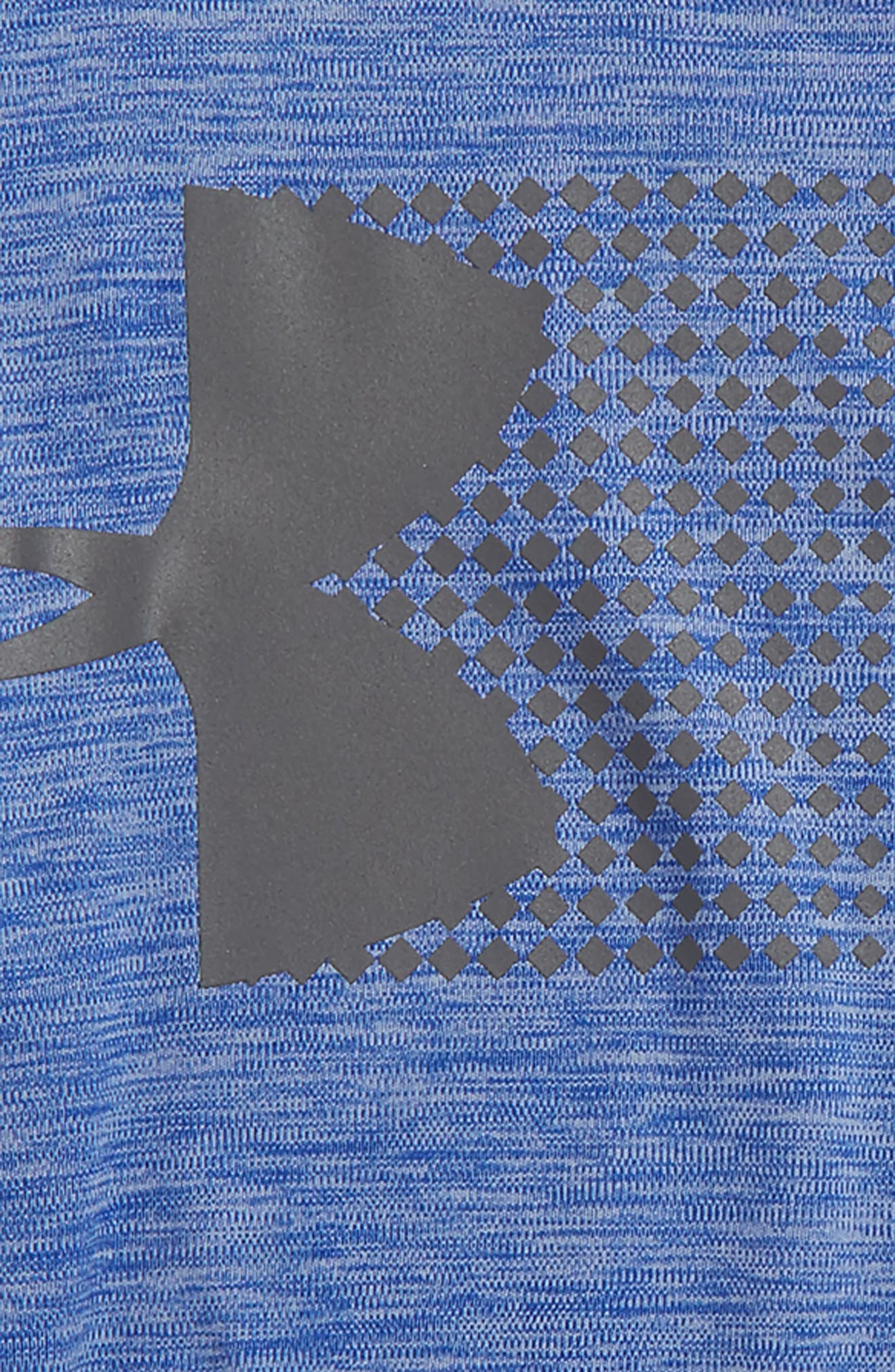 Crossfade HeatGear<sup>®</sup> T-Shirt,                             Alternate thumbnail 2, color,                             Royal/ Graphite
