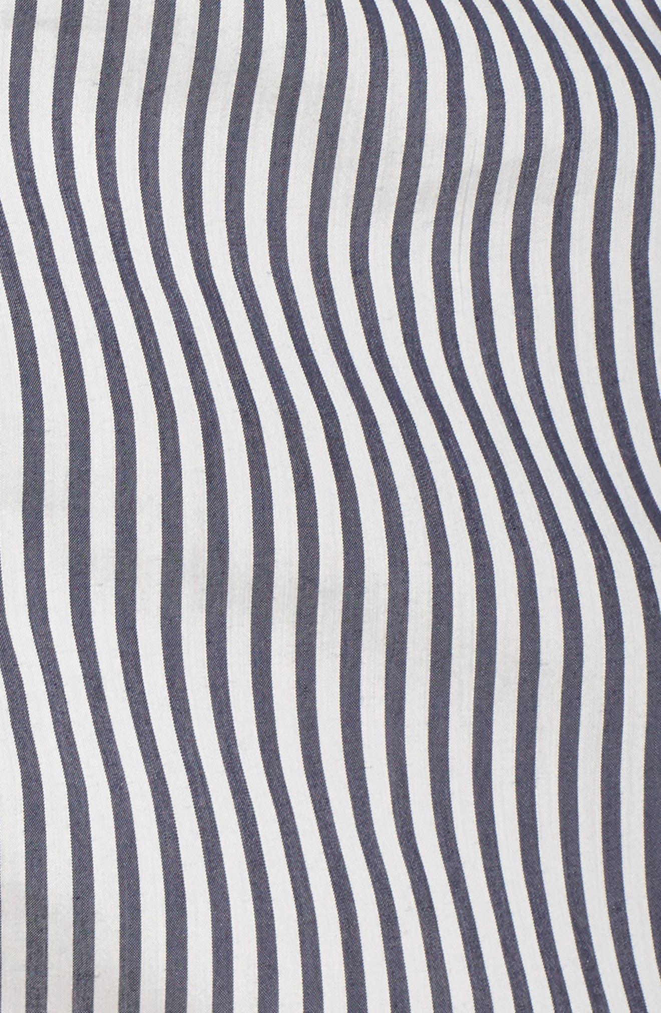 Patio Only Stripe Minidress,                             Alternate thumbnail 5, color,                             Navy/ White Mini Stripe