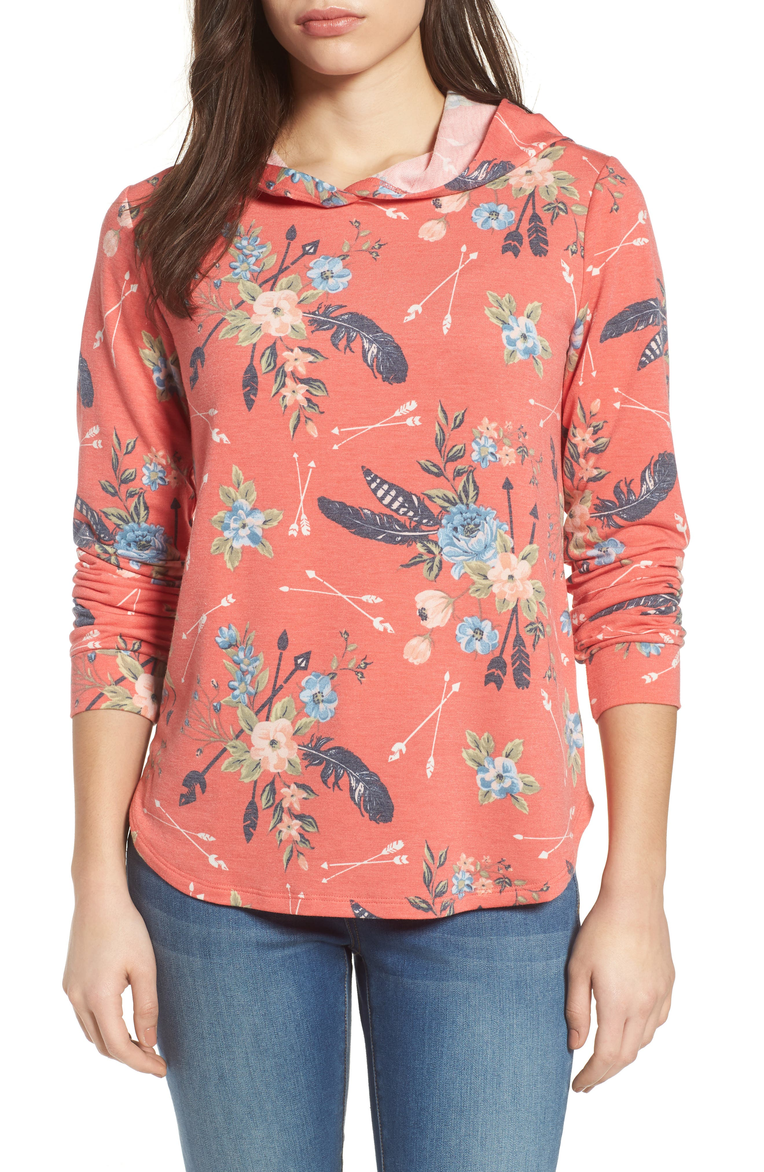 Pleione Printed Hoodie Sweatshirt (Regular & Petite)
