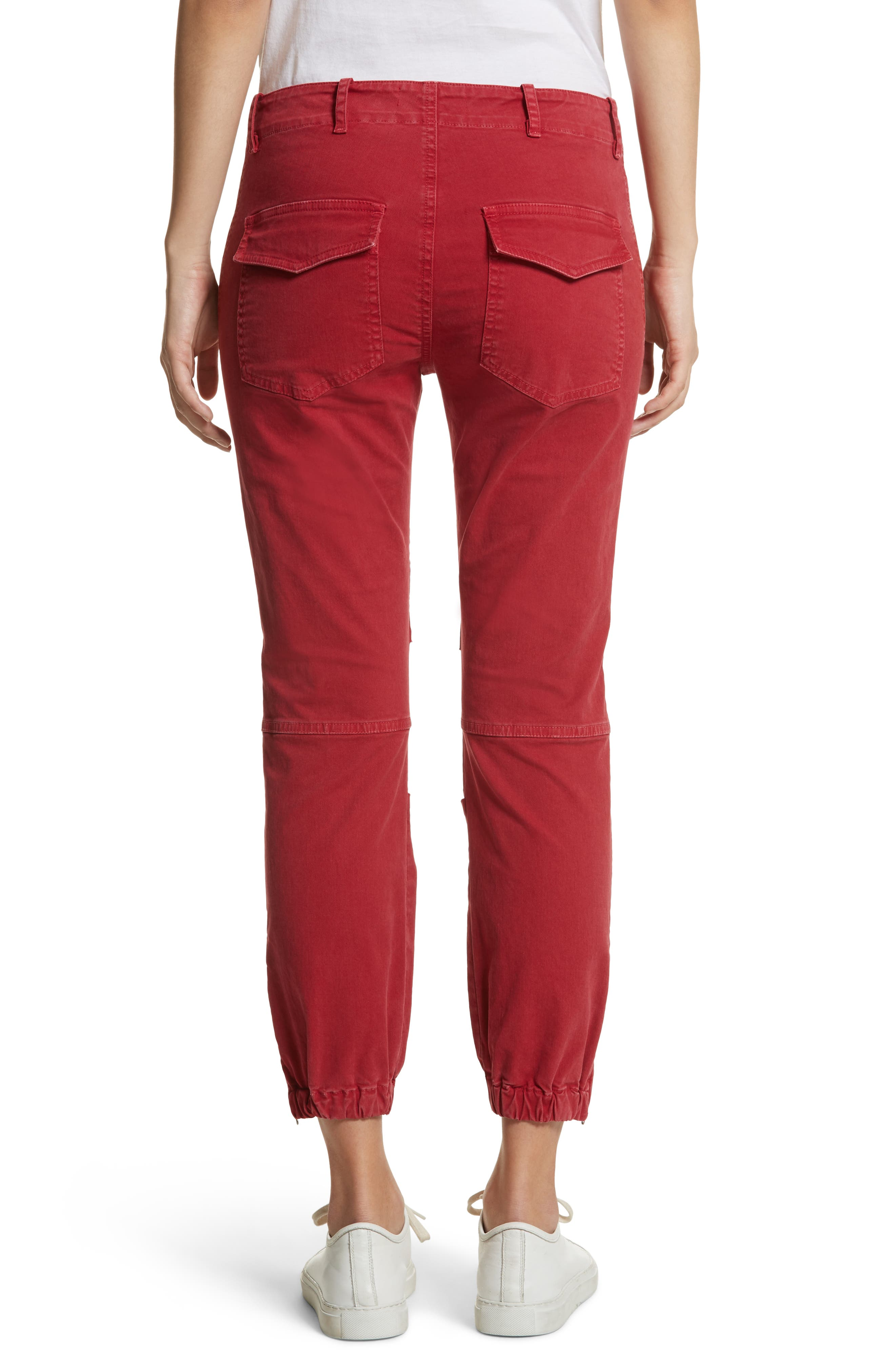 Stretch Cotton Twill Crop Military Pants,                             Alternate thumbnail 2, color,                             Sun Kissed
