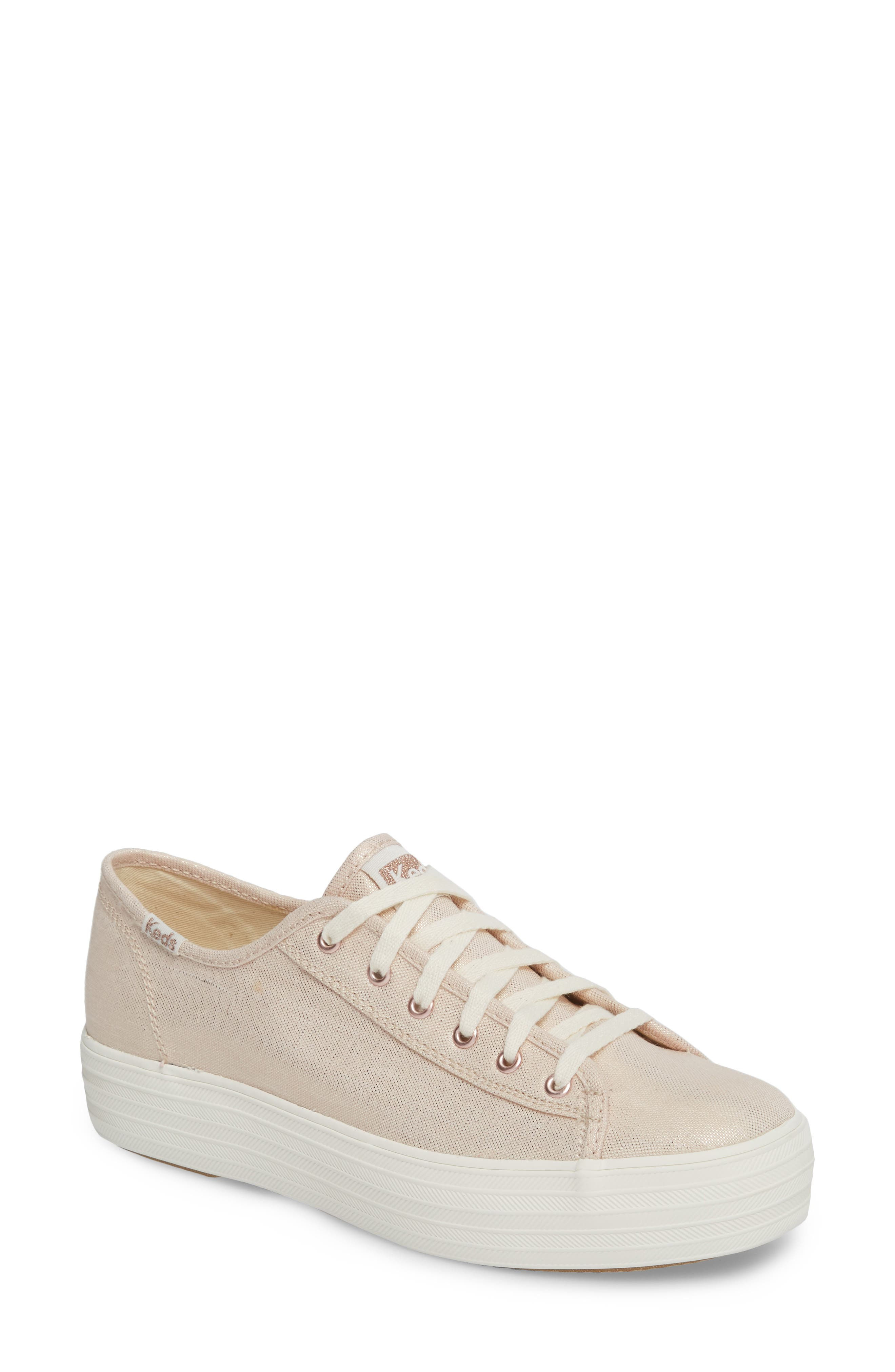 Keds® Triple Kick Metallic Linen Sneaker (Women)