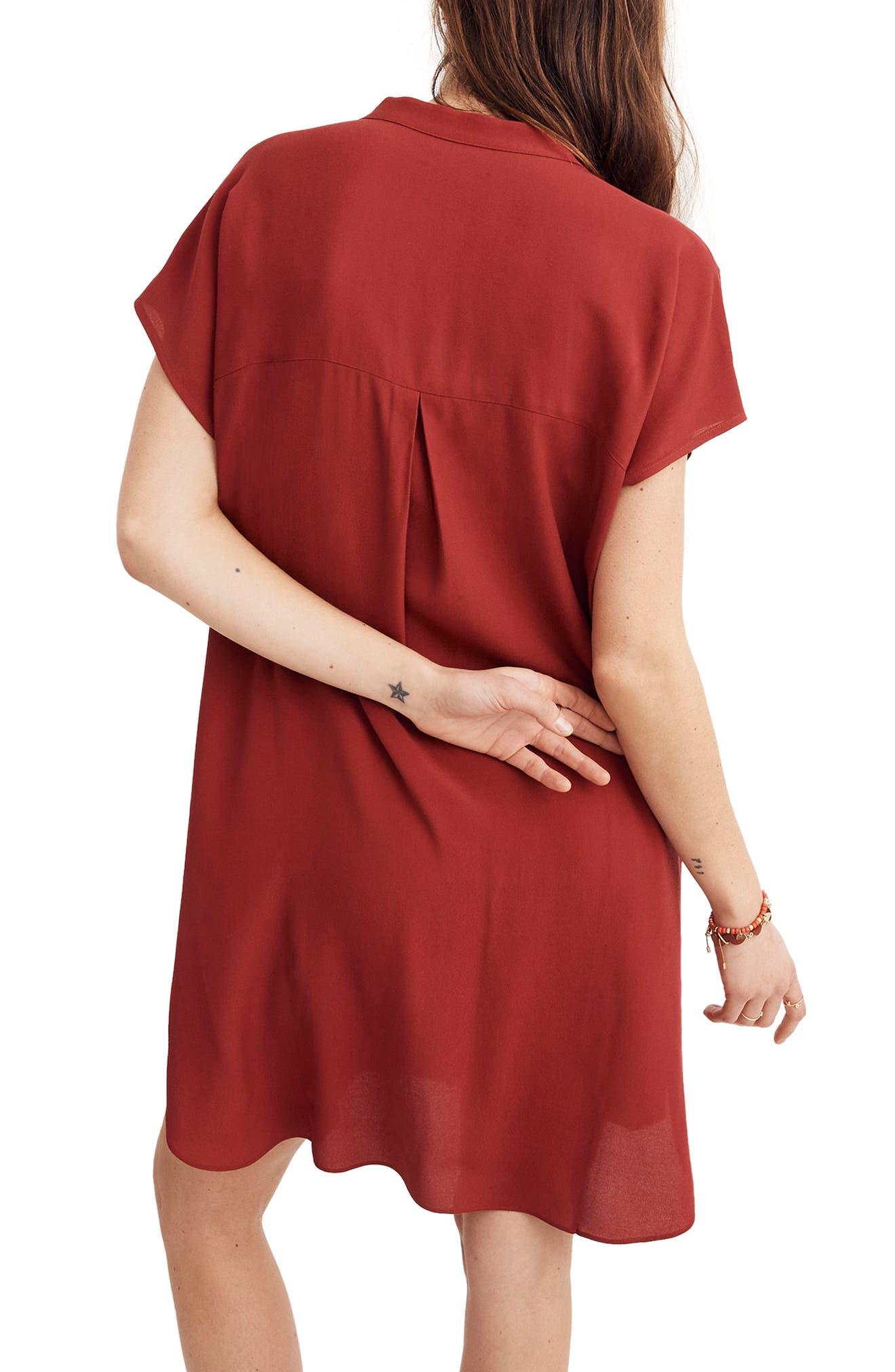 Bicoastal Dress,                             Alternate thumbnail 2, color,                             Crimson