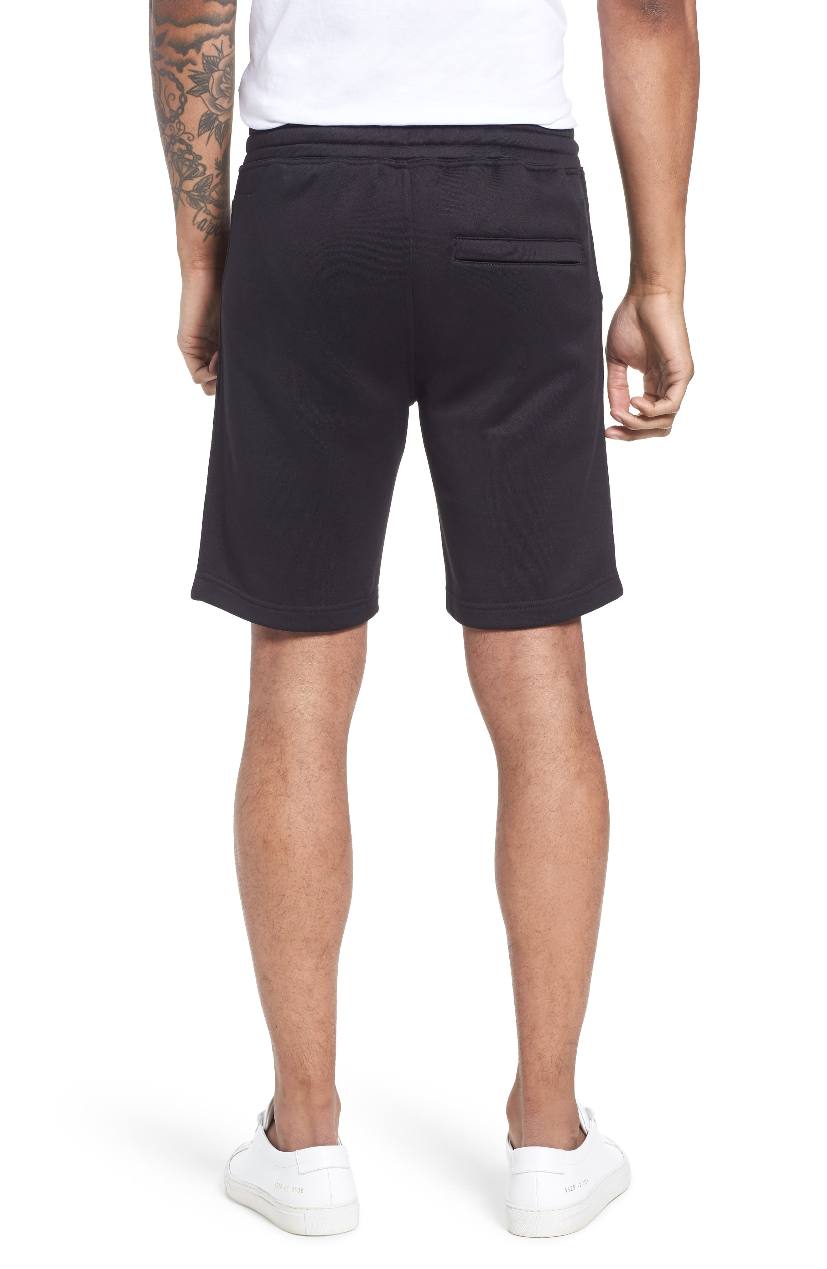 Lux French Terry Shorts,                             Alternate thumbnail 2, color,                             Navy Black