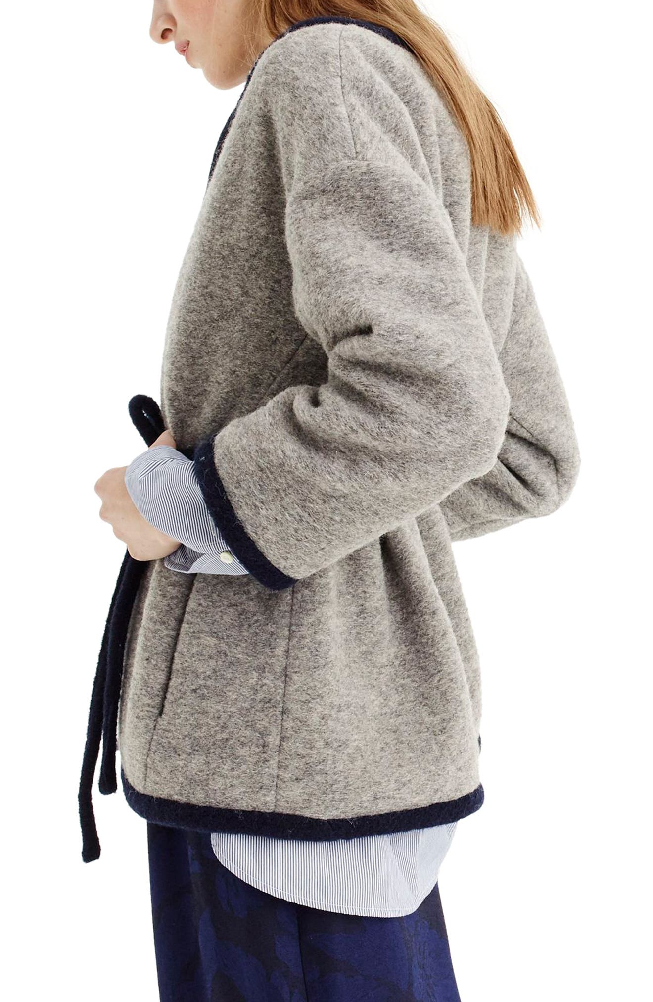Branford Boiled Wool Blend Jacket,                             Alternate thumbnail 2, color,                             Heather Graphite