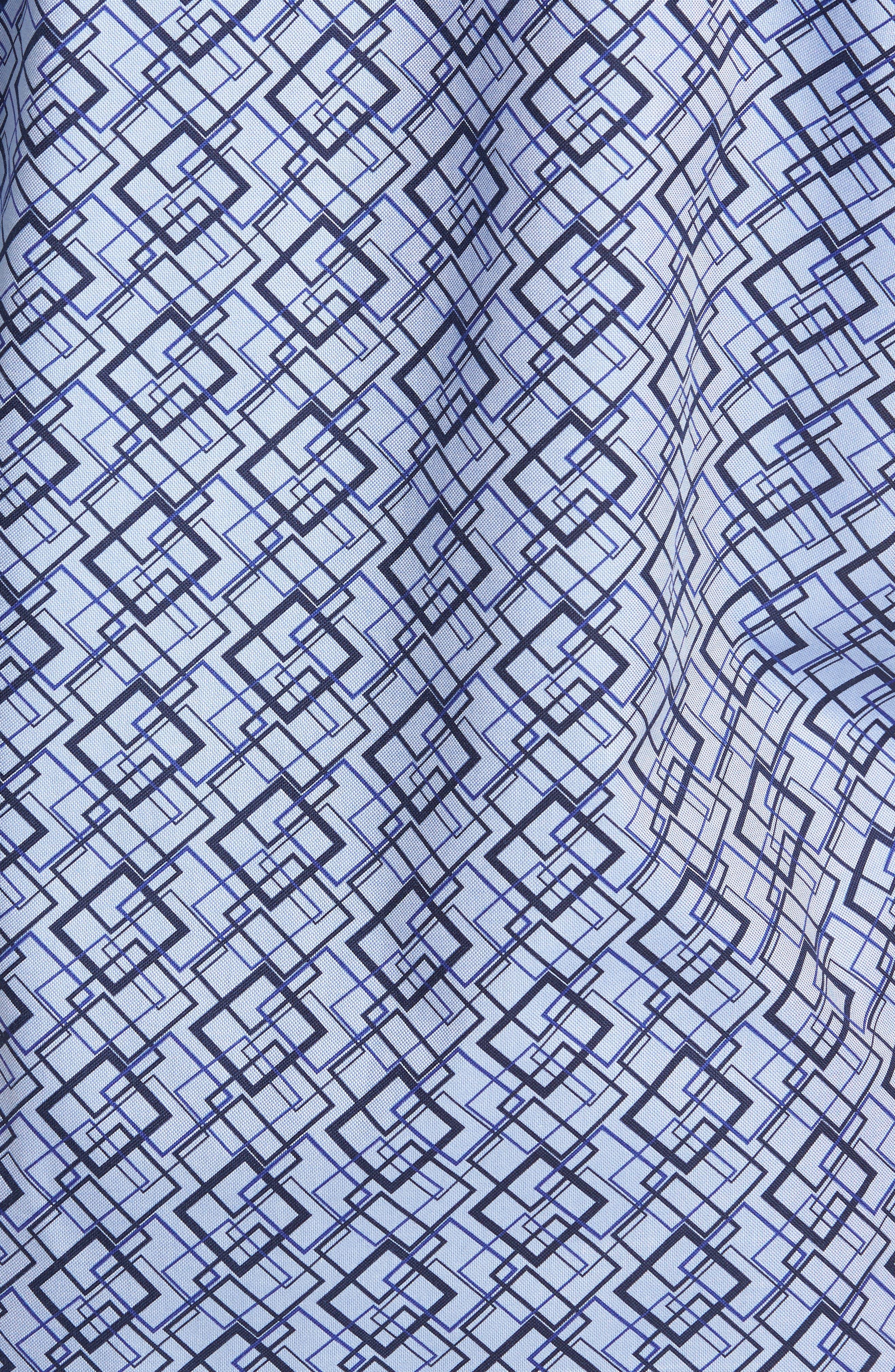 Classic Fit Woven Sport Shirt,                             Alternate thumbnail 5, color,                             Classic Blue