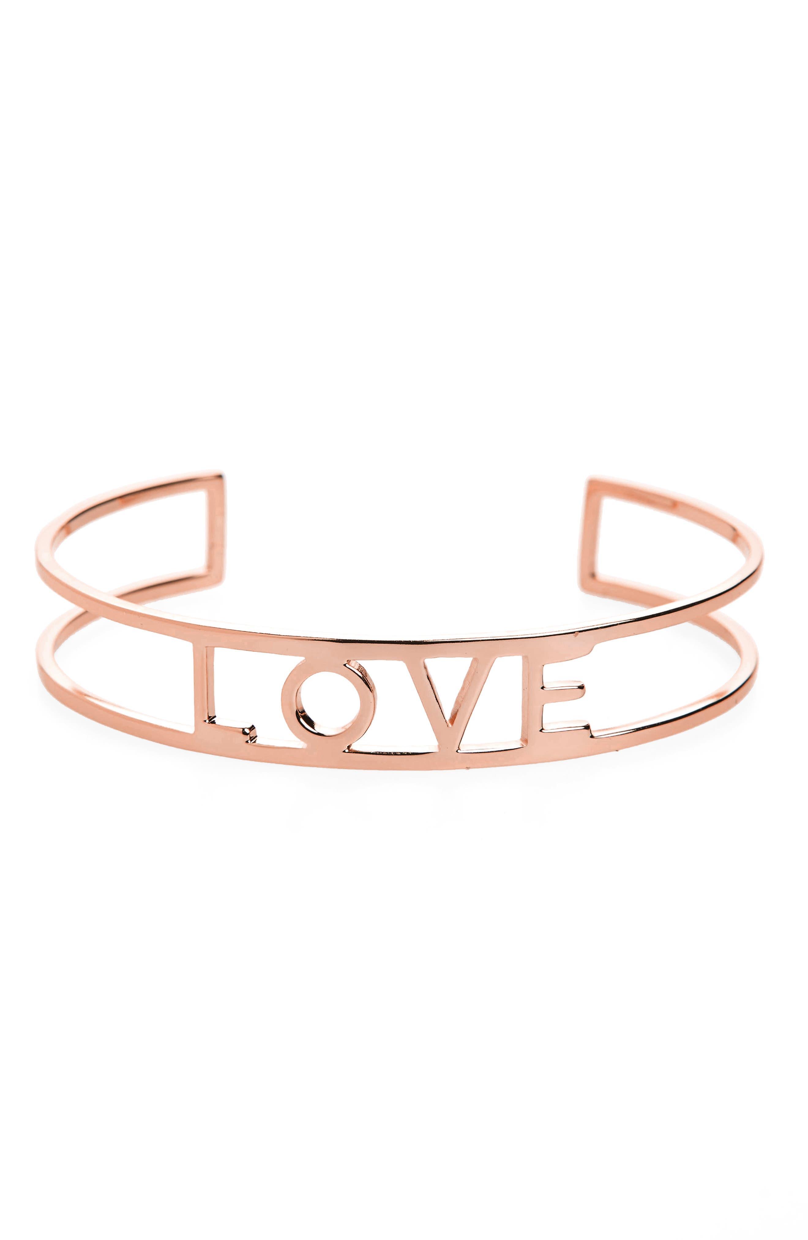 Love Cuff,                         Main,                         color, Rose Gold