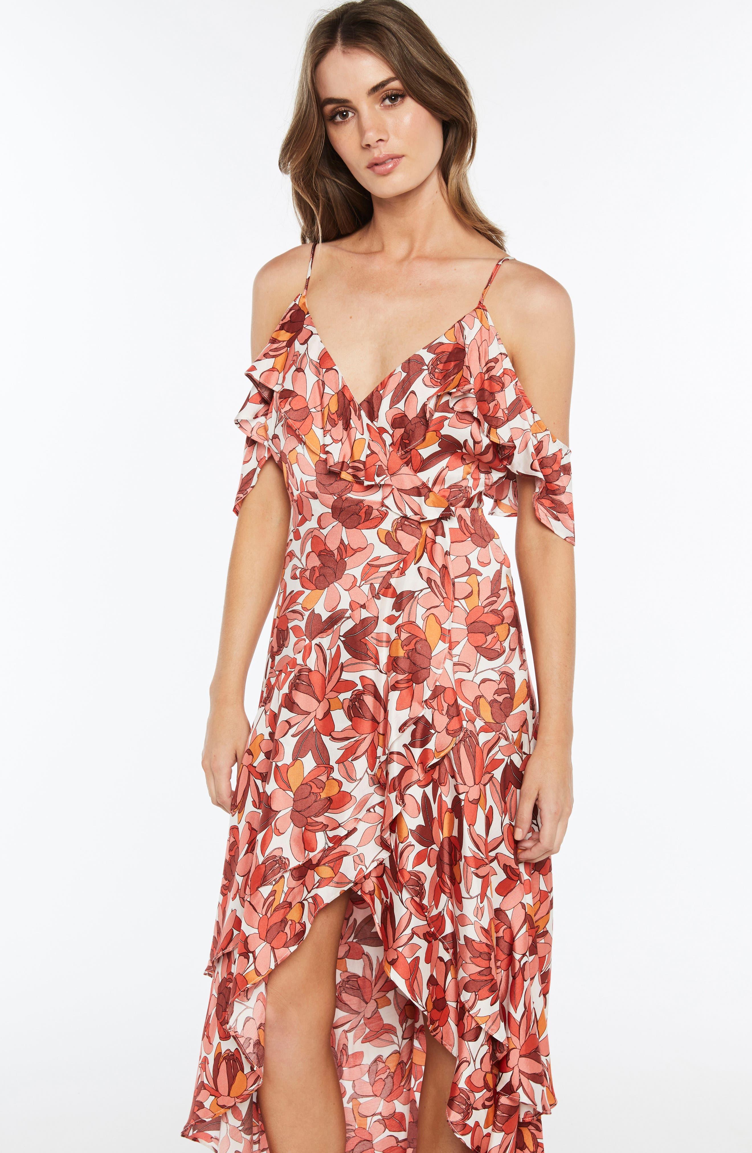 Frankie Frill Floral Dress,                             Alternate thumbnail 2, color,                             Azr Floral