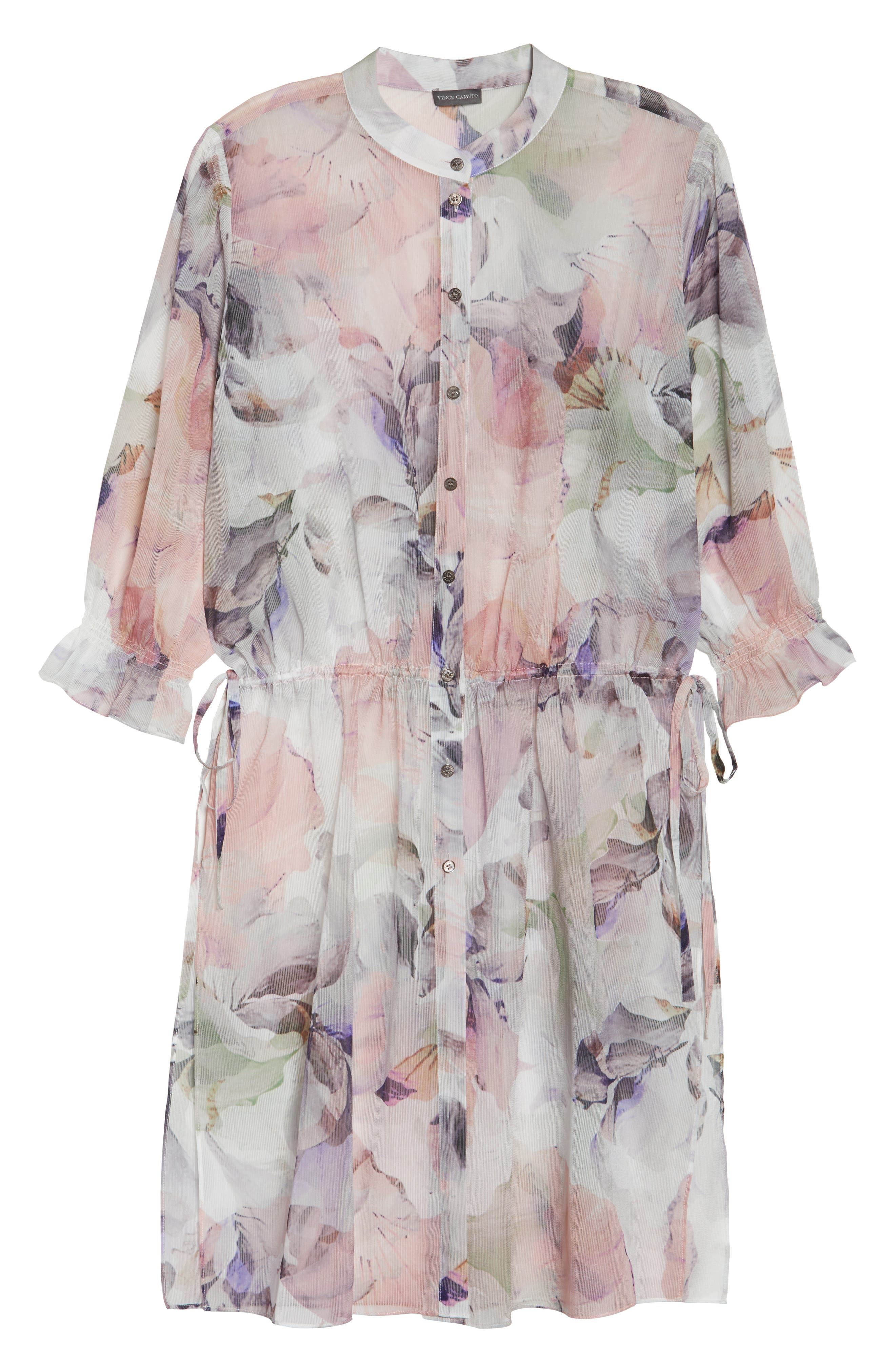 Diffused Bloom Tunic Dress,                             Alternate thumbnail 6, color,                             New Ivory