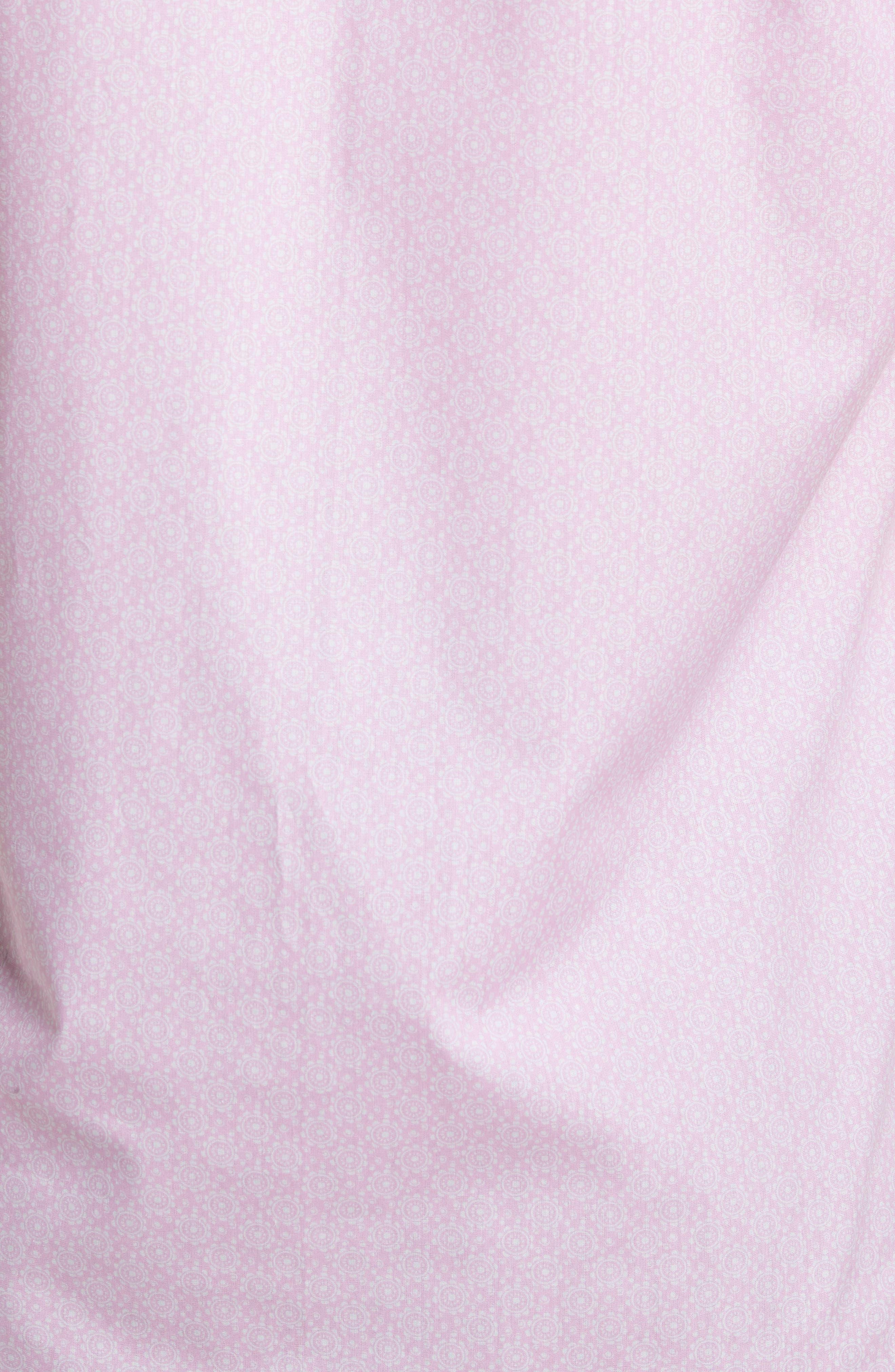 Napolean Regular Fit Medallion Sport Shirt,                             Alternate thumbnail 5, color,                             Pink