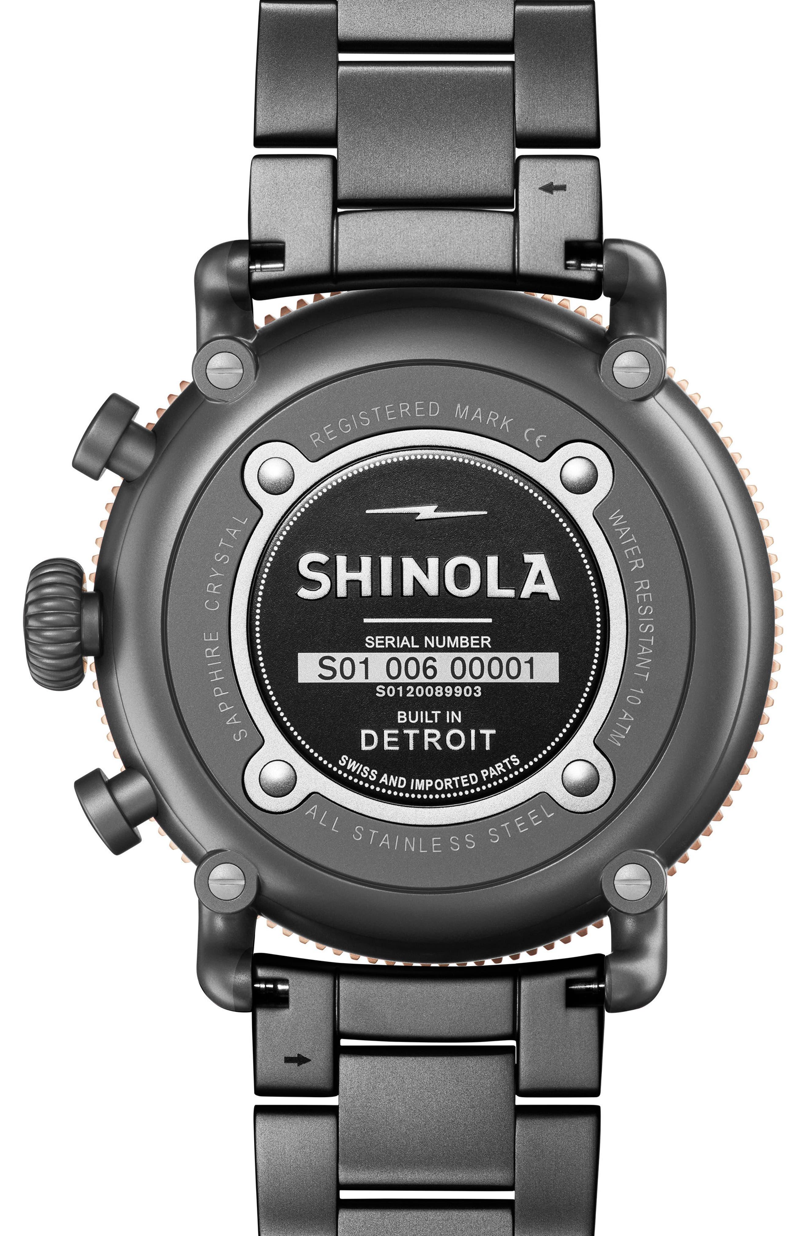 The Runwell Chronograph Bracelet Watch, 48mm,                             Alternate thumbnail 2, color,                             Gunmetal/ Stone/ Gunmetal