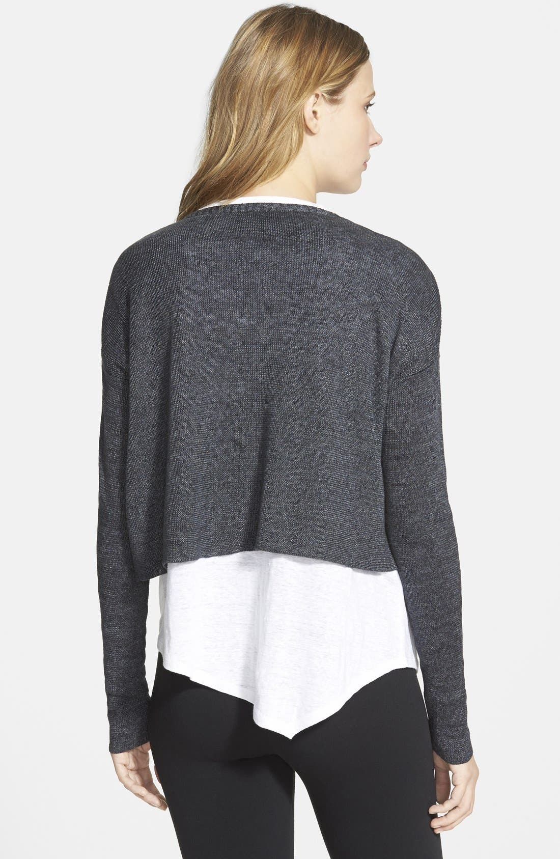 Alternate Image 2  - Eileen Fisher Linen Cropped Round Neck Cardigan (Online Only)