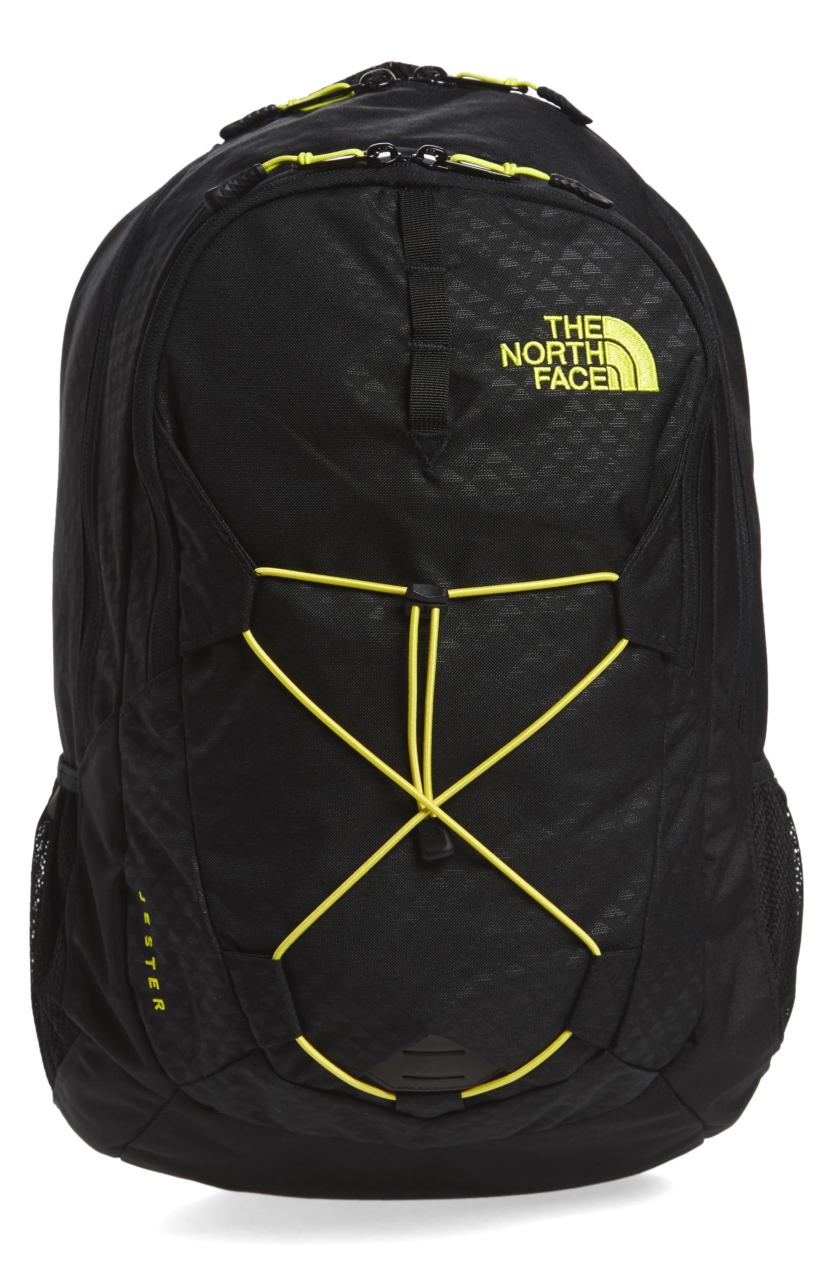 'Jester' Backpack,                             Main thumbnail 1, color,                             Tnf Black Emboss/ Spring Green