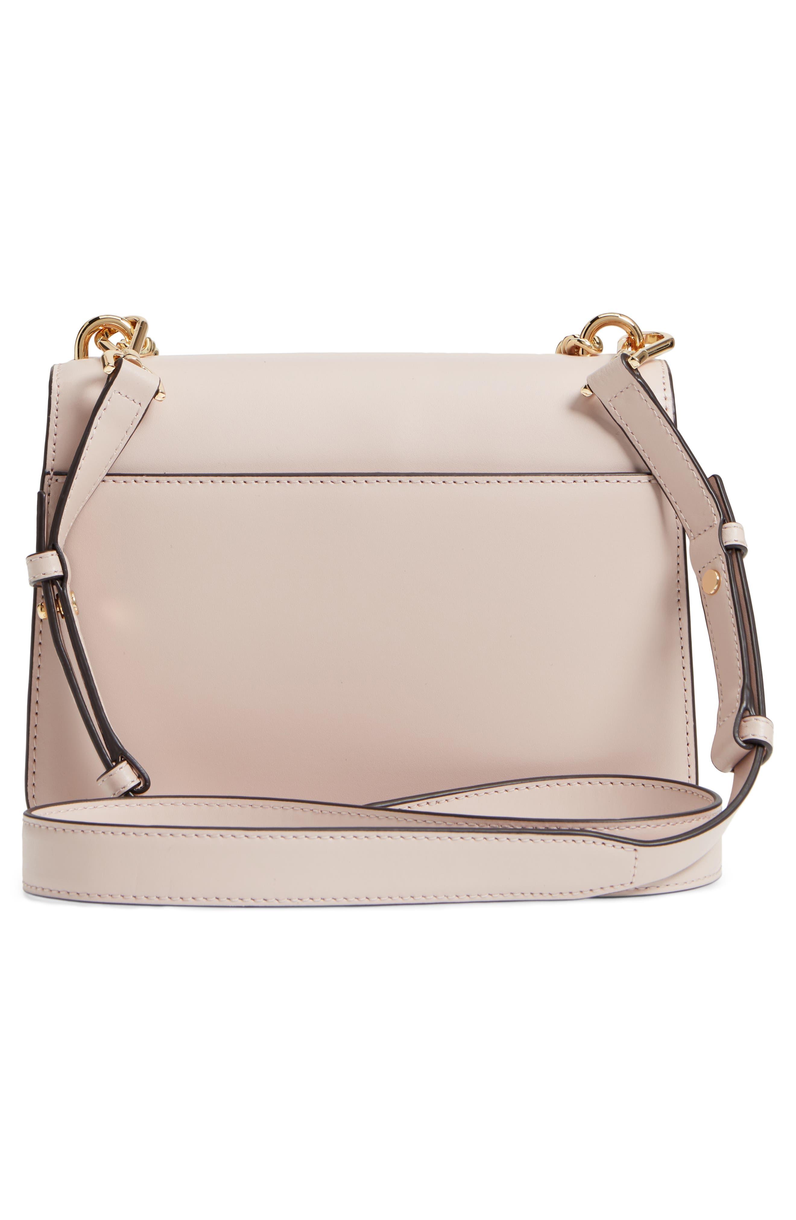 Large Mott Chain Swag Leather Shoulder Bag,                             Alternate thumbnail 3, color,                             Soft Pink