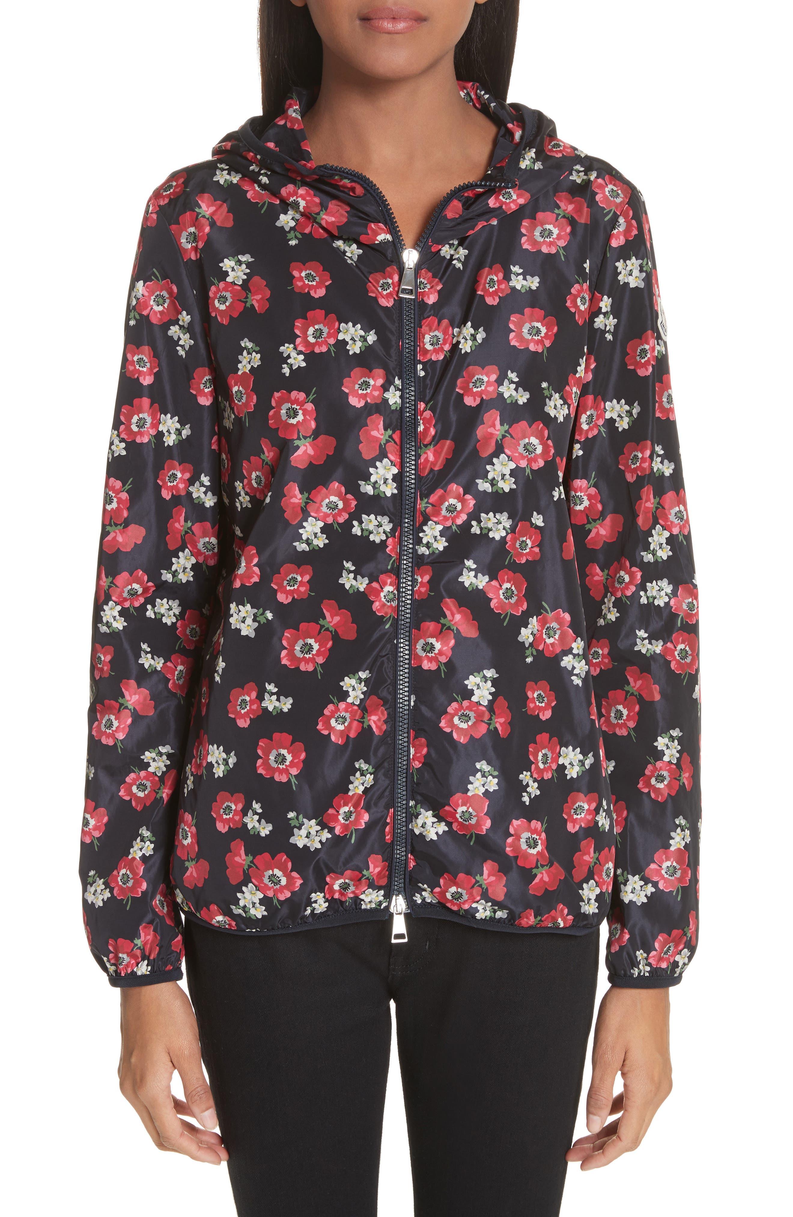 Vivre Floral Print Raincoat,                         Main,                         color, Echo Print