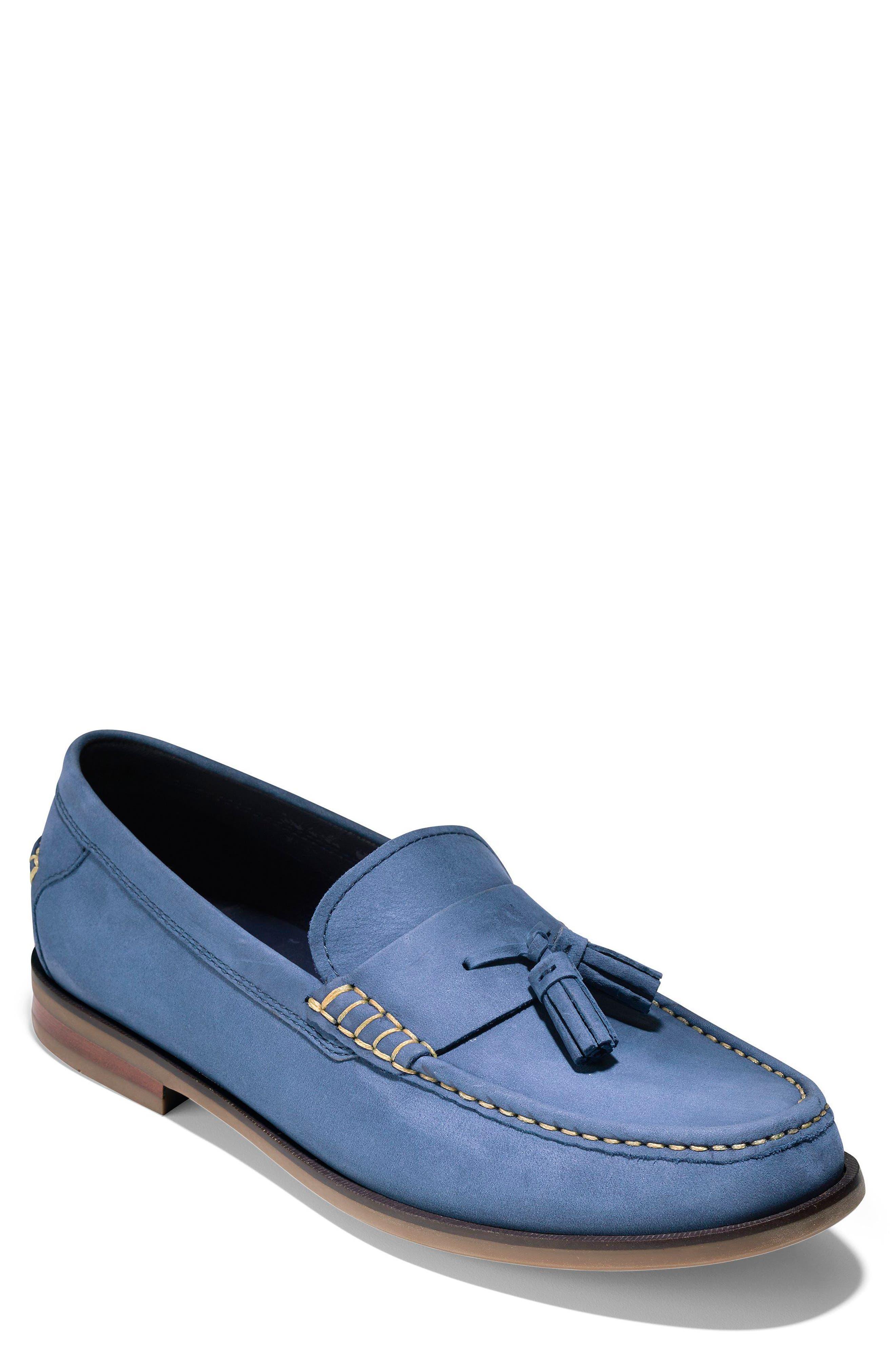 Pinch Friday Tassel Loafer,                         Main,                         color, Marine Blue Nubuck