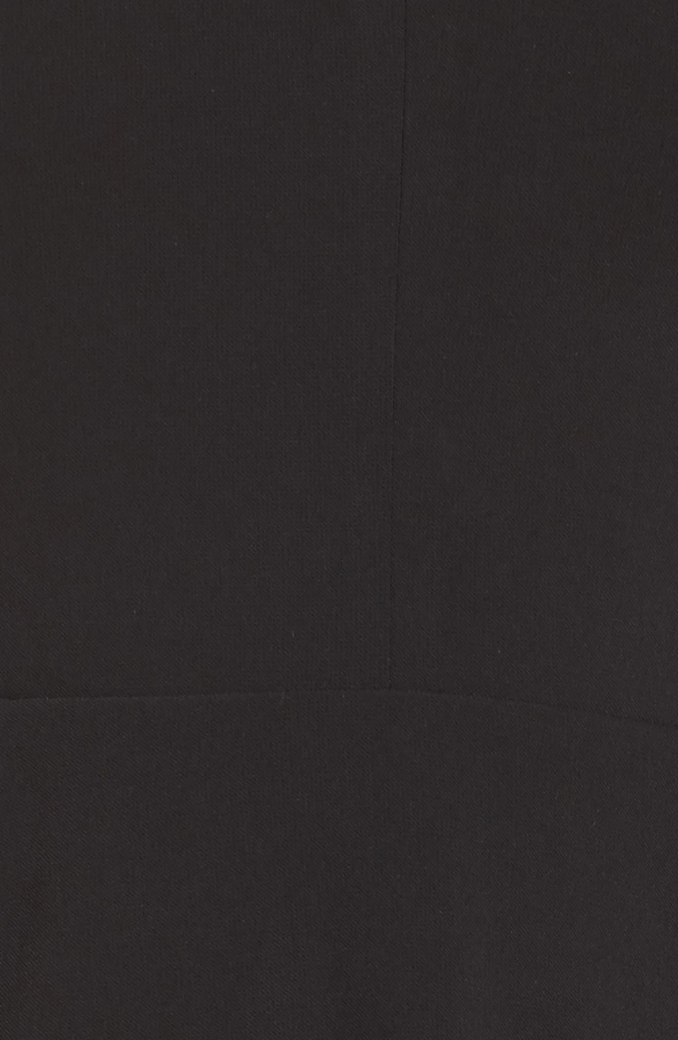 Zahara Cutout Fit & Flare Dress,                             Alternate thumbnail 5, color,                             Black