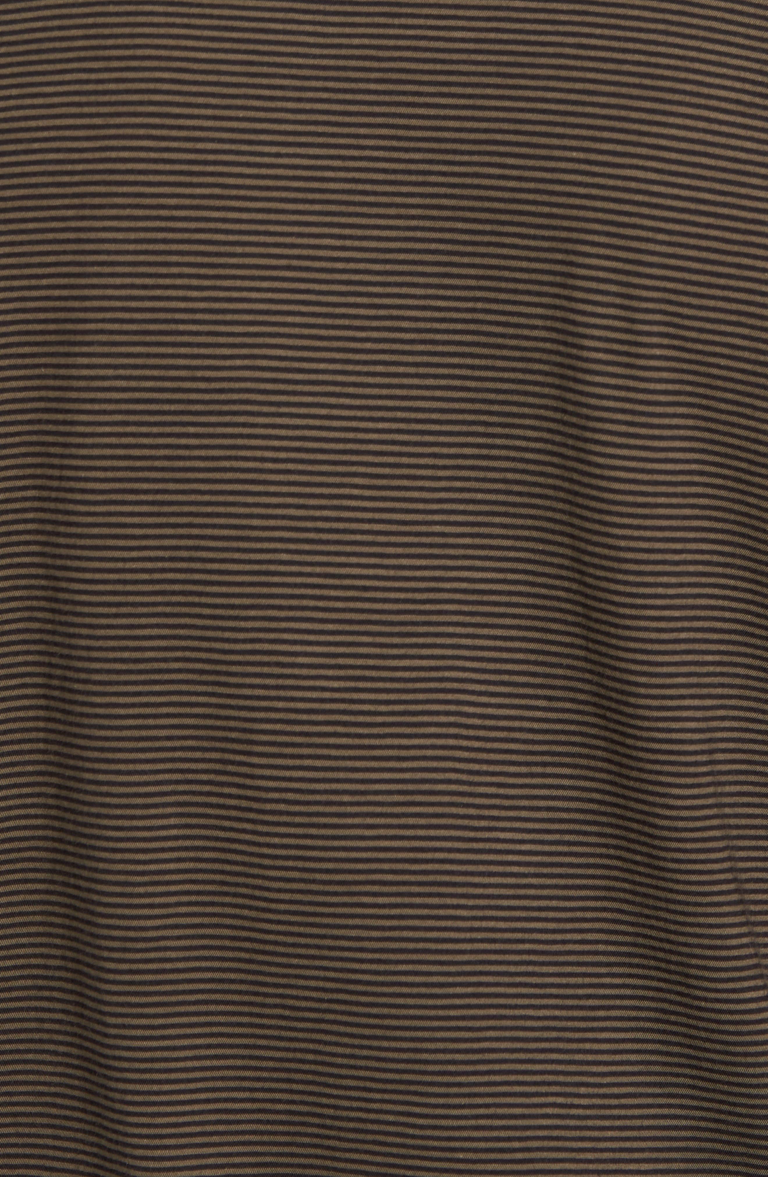 Slim Fit Stripe Pocket T-Shirt,                             Alternate thumbnail 5, color,                             Black/ Camp Green