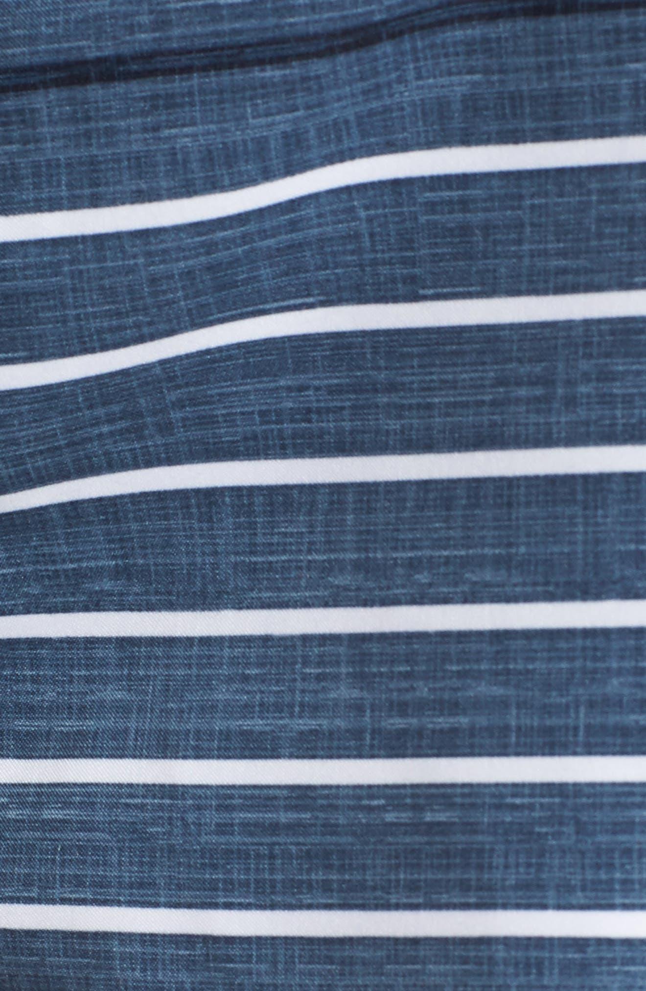 Feeder Stripe Board Shorts,                             Alternate thumbnail 5, color,                             Vintage Indigo