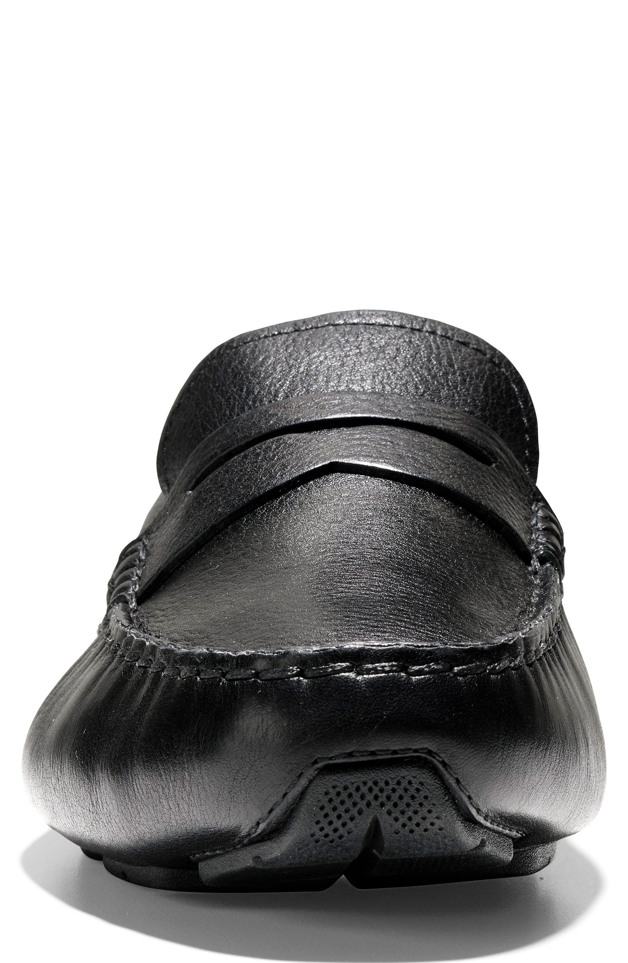 Branson Penny Driver,                             Alternate thumbnail 3, color,                             Black Leather