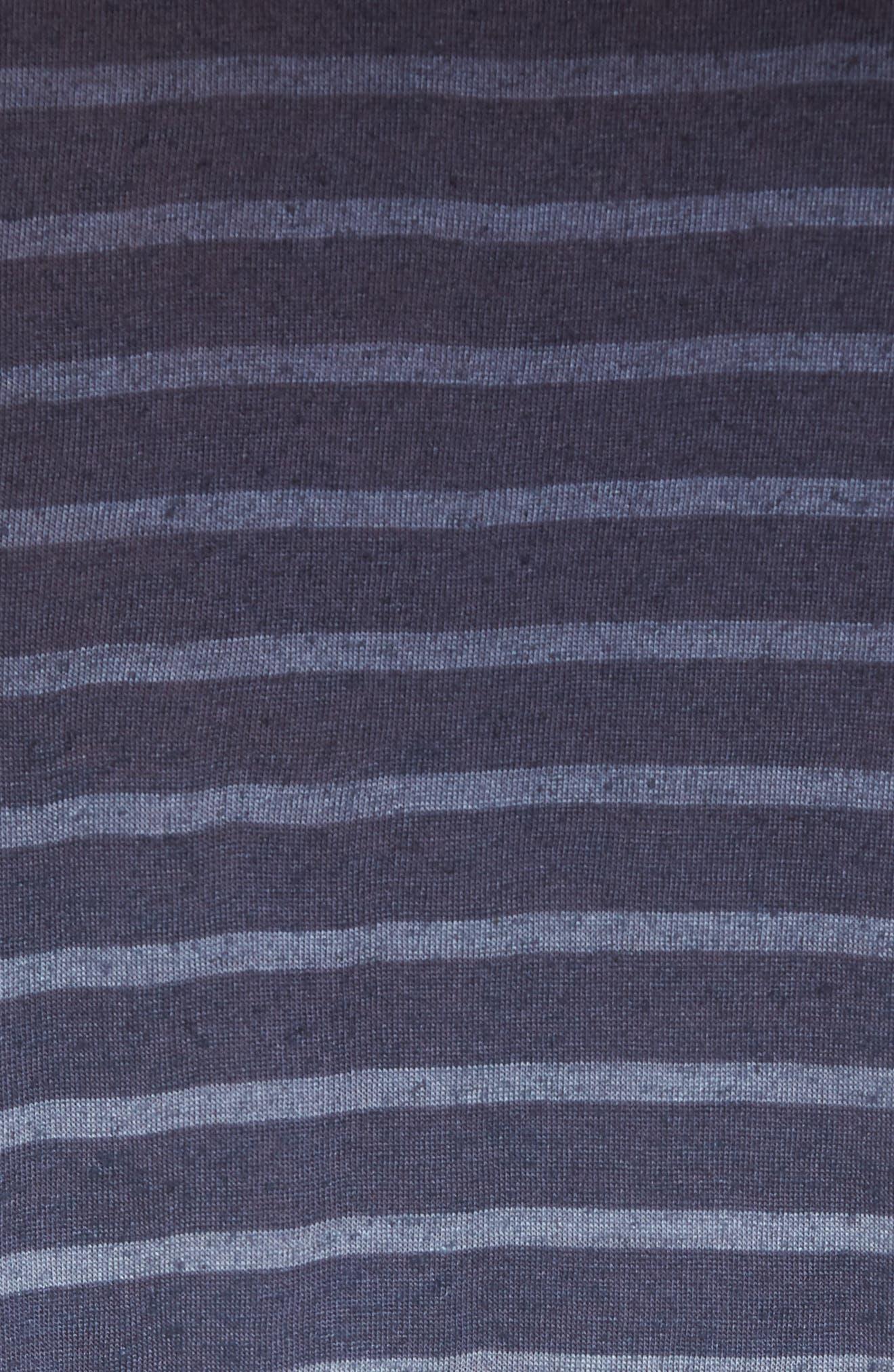 Ombré Stripe T-Shirt,                             Alternate thumbnail 5, color,                             Lake Blue