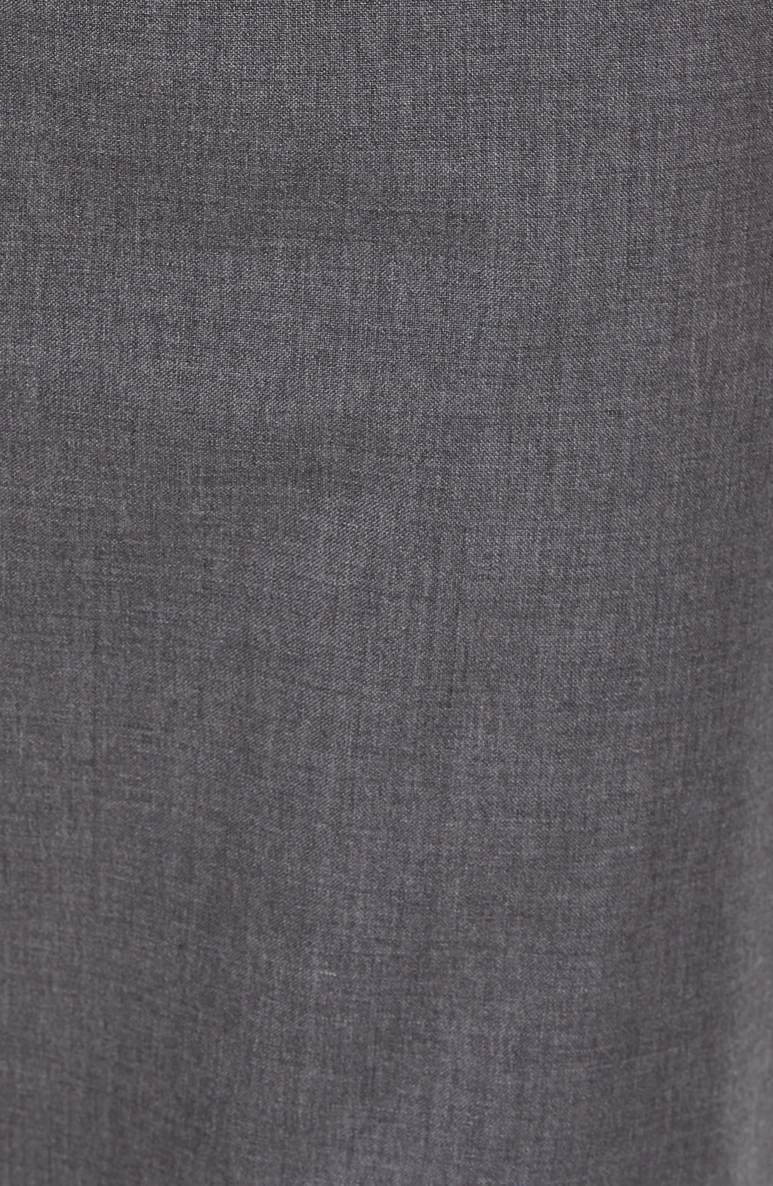 Slim Fit Wool Track Pants,                             Alternate thumbnail 5, color,                             Light Heather Grey