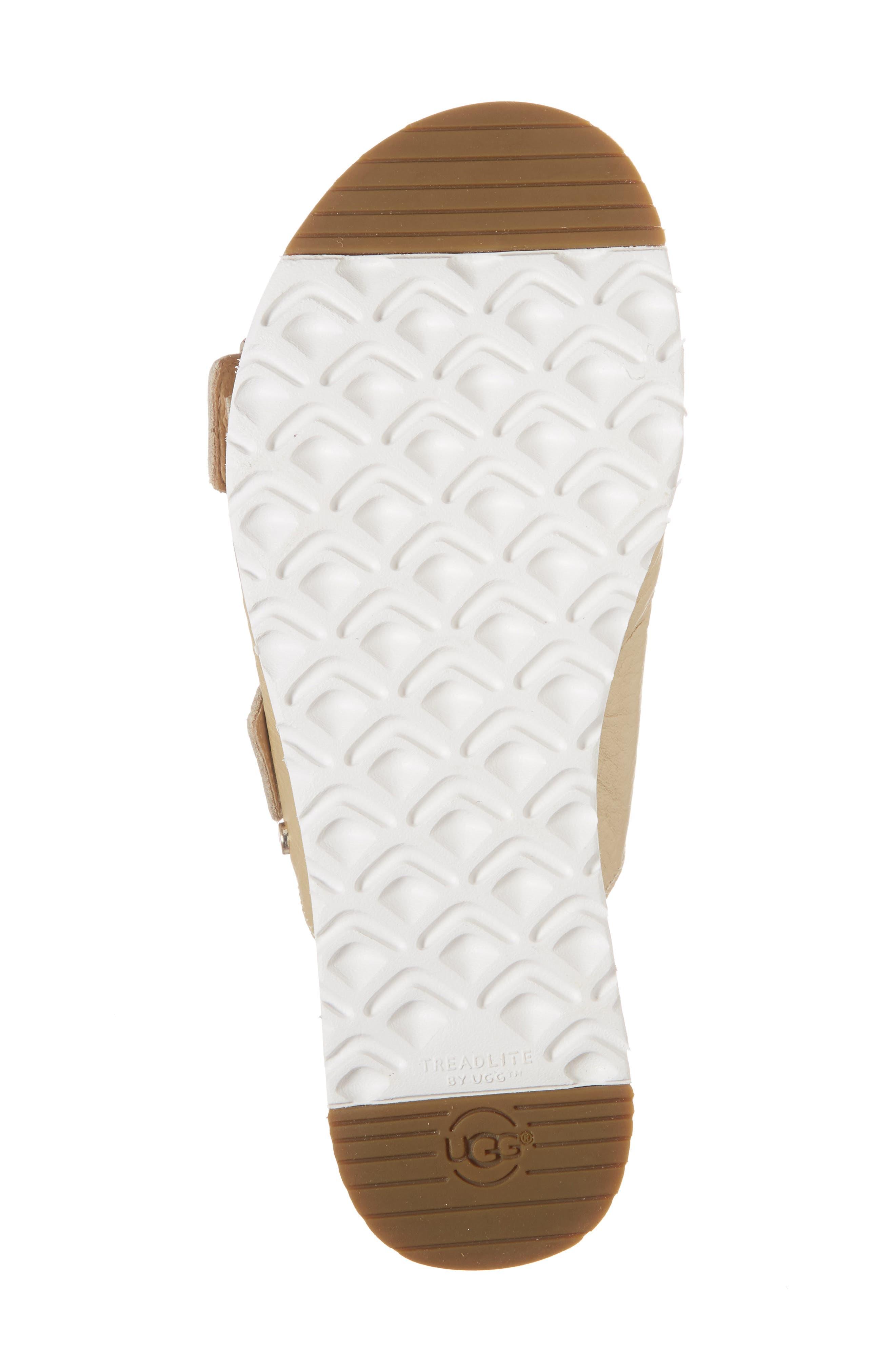 Cammie Platform Sandal,                             Alternate thumbnail 6, color,                             Gold Patent Leather
