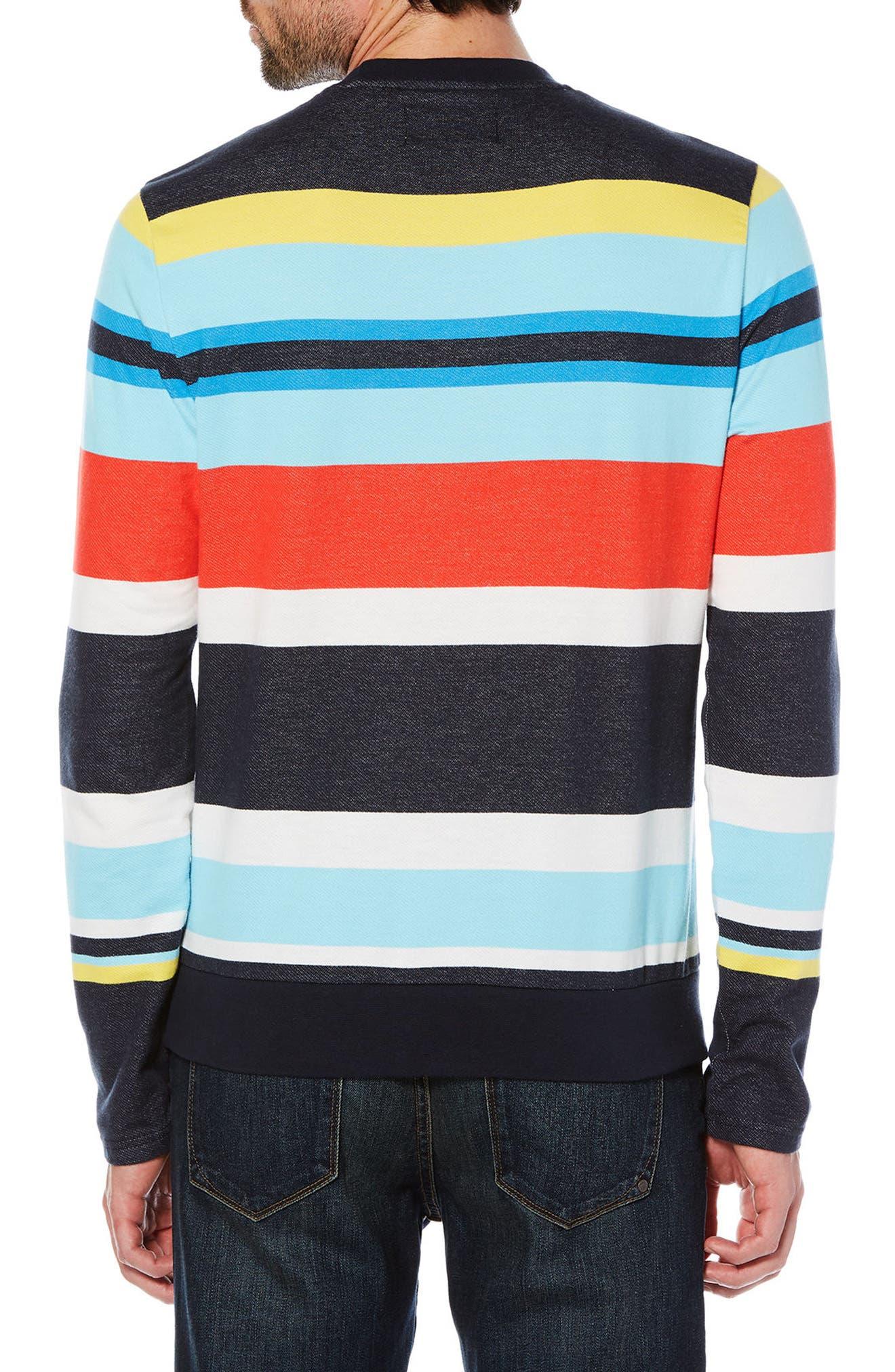 Engineered Stripe T-Shirt,                             Alternate thumbnail 2, color,                             Dark Sapphire